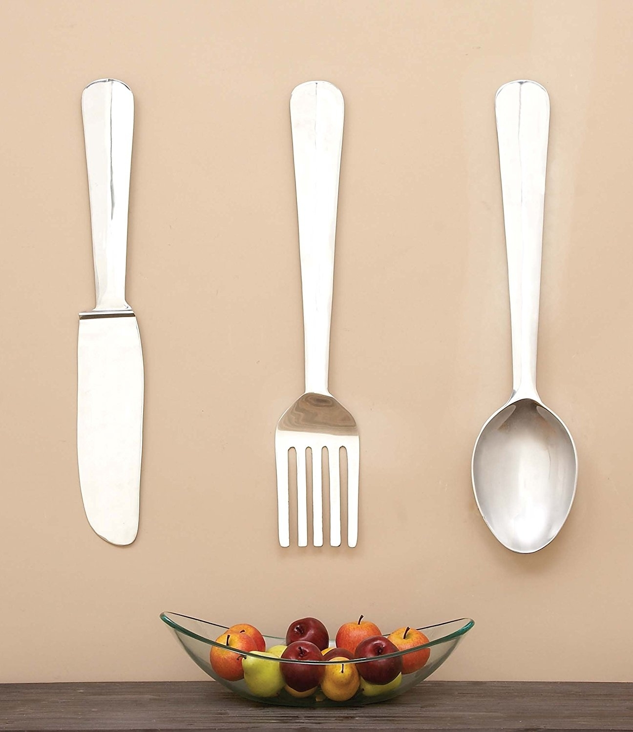 Amazon: Deco 79 Aluminum Wall Decor, 368 Inch, Set Of 3 Intended For 2017 Utensil Wall Art (View 1 of 15)
