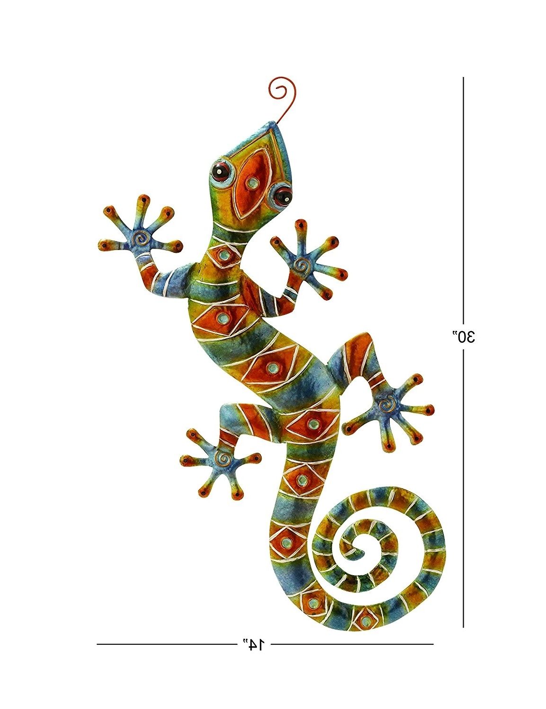 "Amazon: Deco 79 Metal Lizard, 3014"": Home & Kitchen With Recent Gecko Outdoor Wall Art (View 1 of 15)"