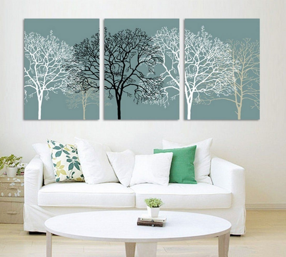 Amazon – Hot Sell 3 Panels 40 X 60 Cm Modern Wall Painting Regarding Famous Painted Trees Wall Art (View 2 of 15)