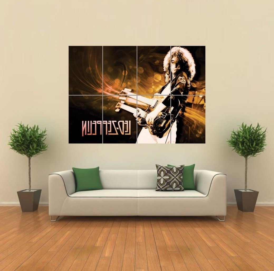 Amazon: Led Zeppelin Giant Wall Art Print Poster G774: Posters Within Well Liked Led Zeppelin Wall Art (View 2 of 15)