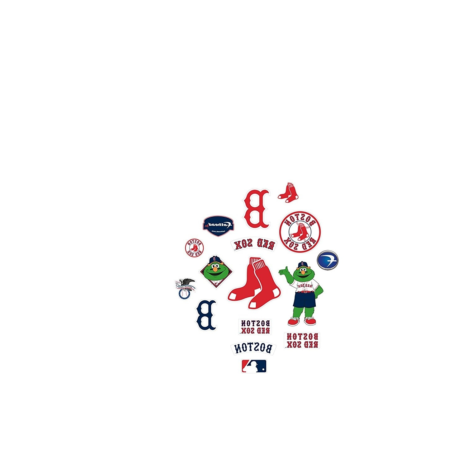 Amazon : Mlb Boston Red Sox Team Logo Assortment Fathead Jr Pertaining To Trendy Red Sox Wall Decals (View 2 of 15)