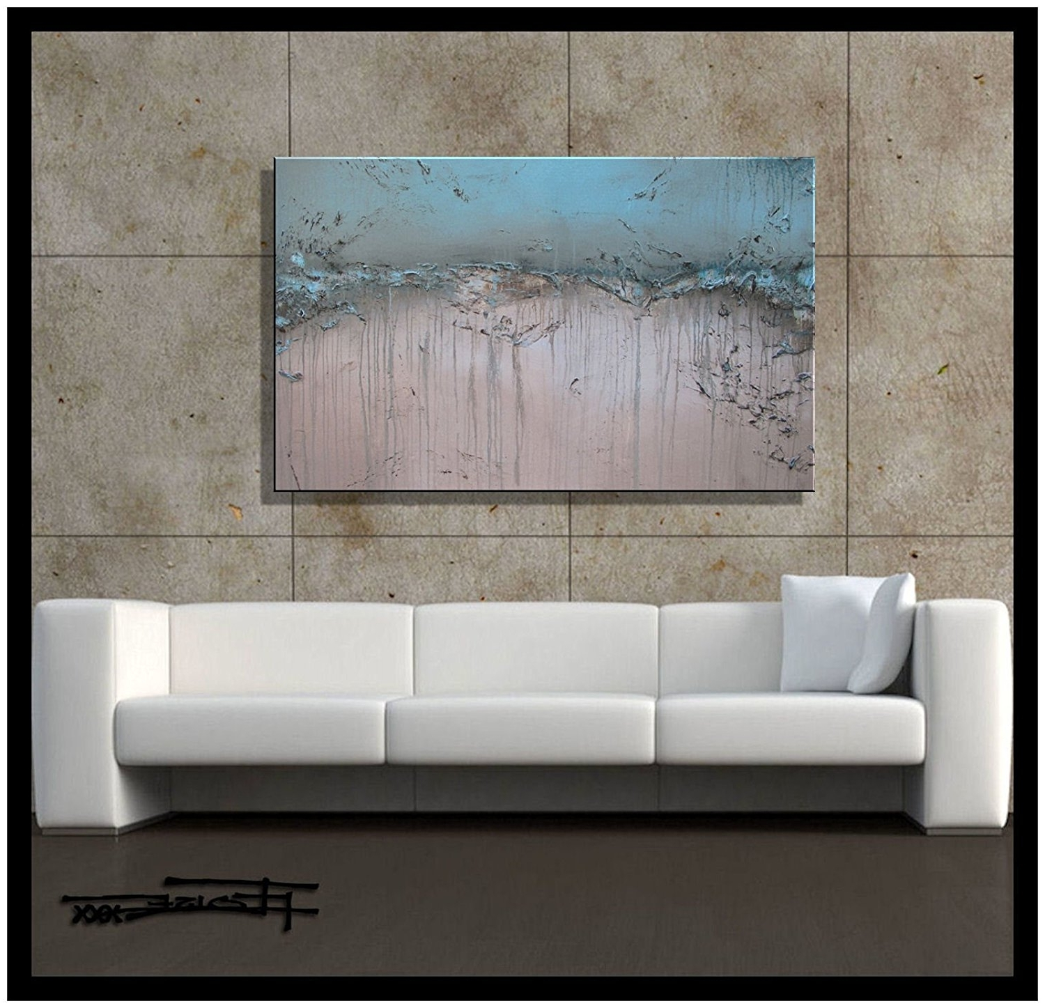 Amazon: Modern Abstract Canvas Wall Art (View 5 of 15)