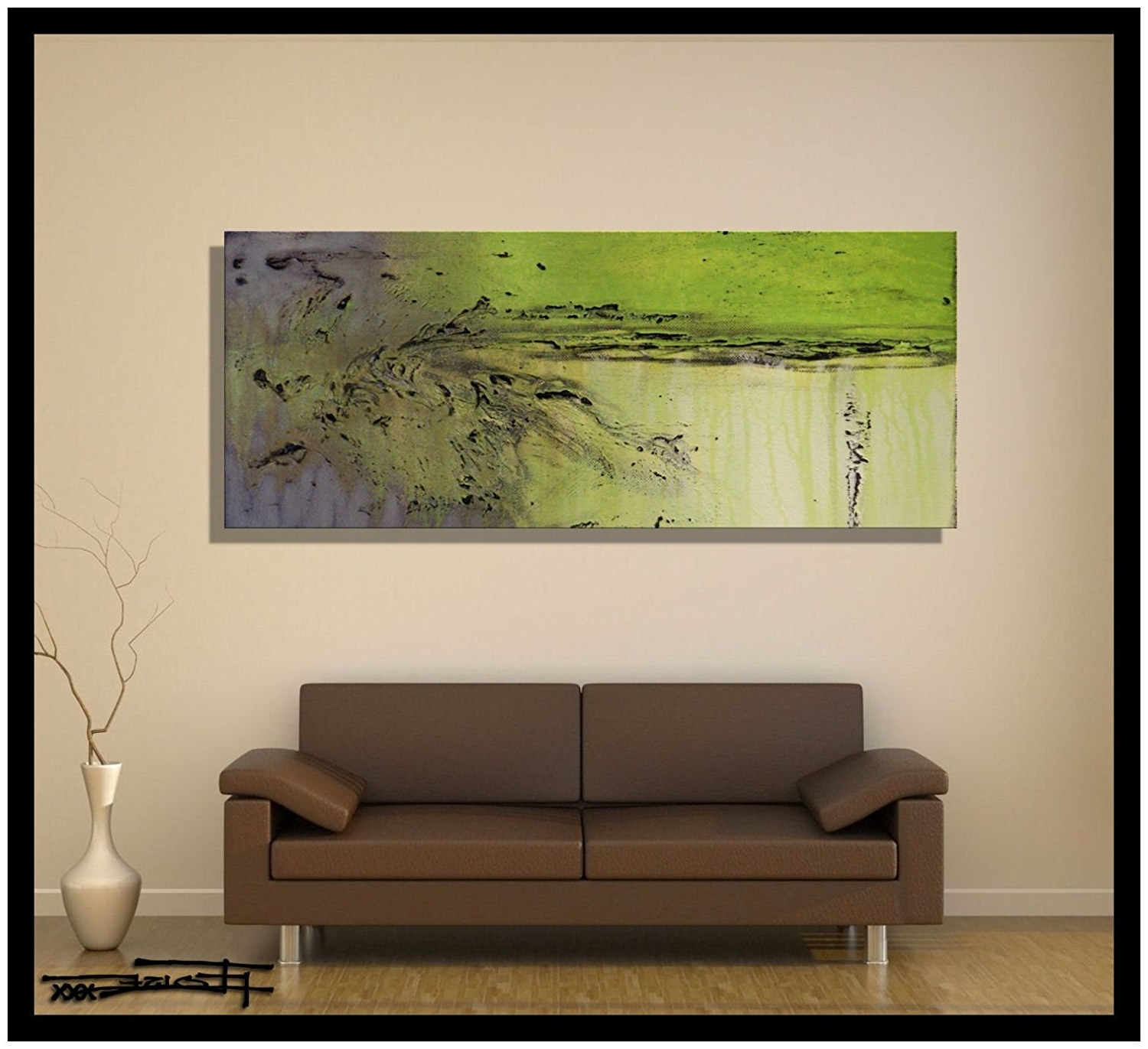 Amazon: Modern Abstract Canvas Wall Art (View 2 of 15)