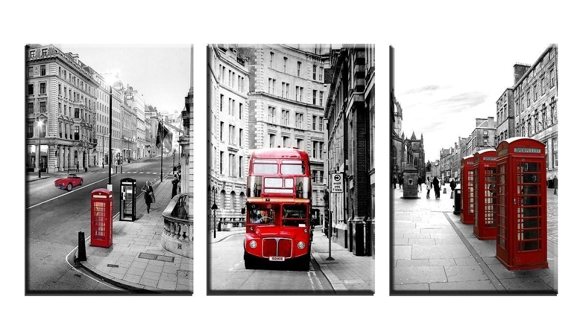 Amazon: Nan Wind Modern Wall Art Painting Framed London Intended For Favorite London Scene Wall Art (View 1 of 15)