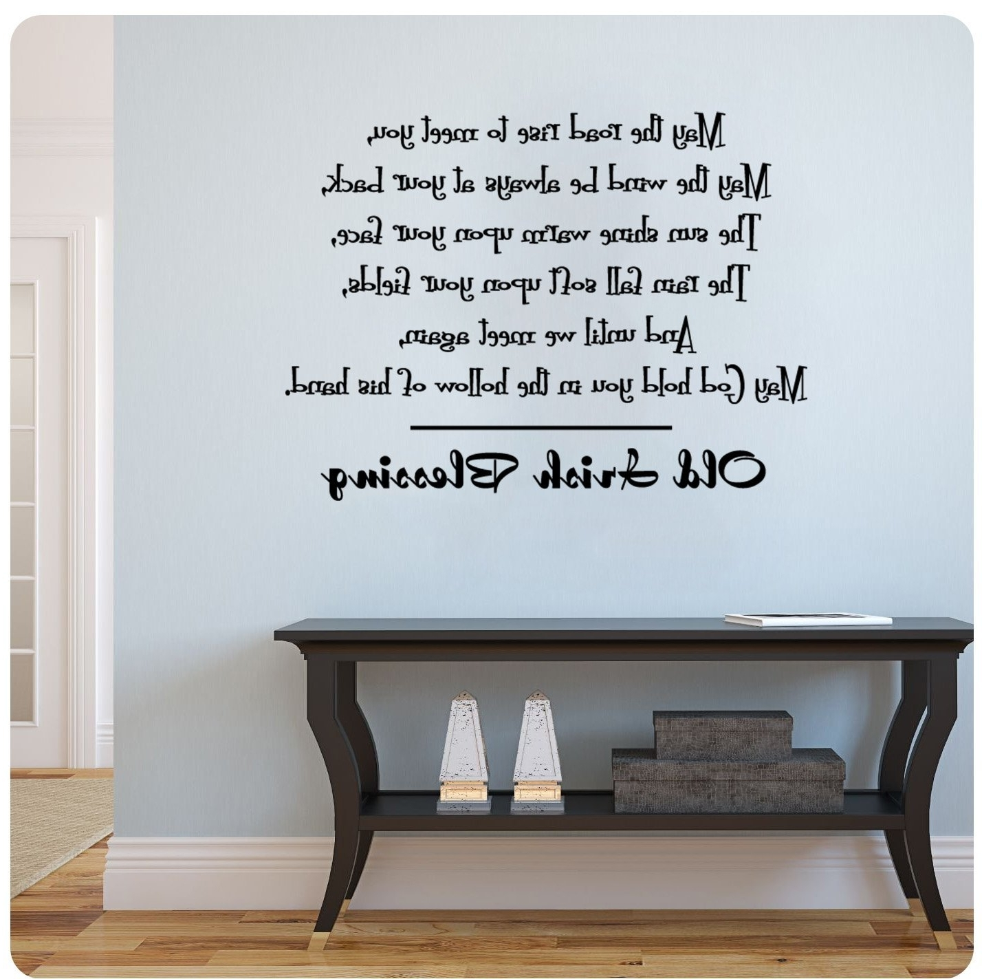 Amazon: Old Irish Blessing Wall Decal Sticker Art Mural Home With Recent Wall Cling Art (View 1 of 15)