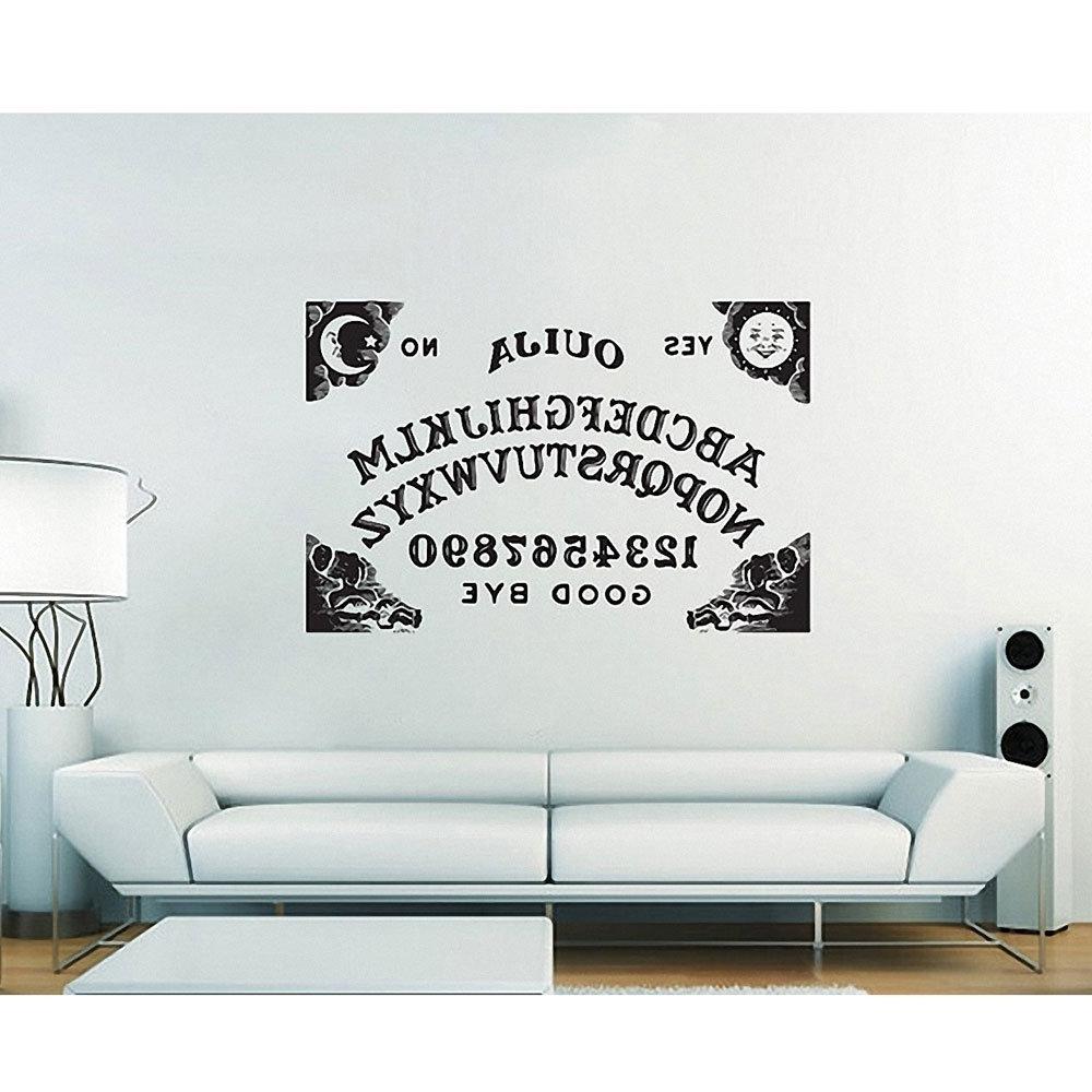 Amazon : Ouija Board Sticker Vinyl Wall Art Decal Wd 0624 In Most Popular Ouija Board Wall Art (View 7 of 15)