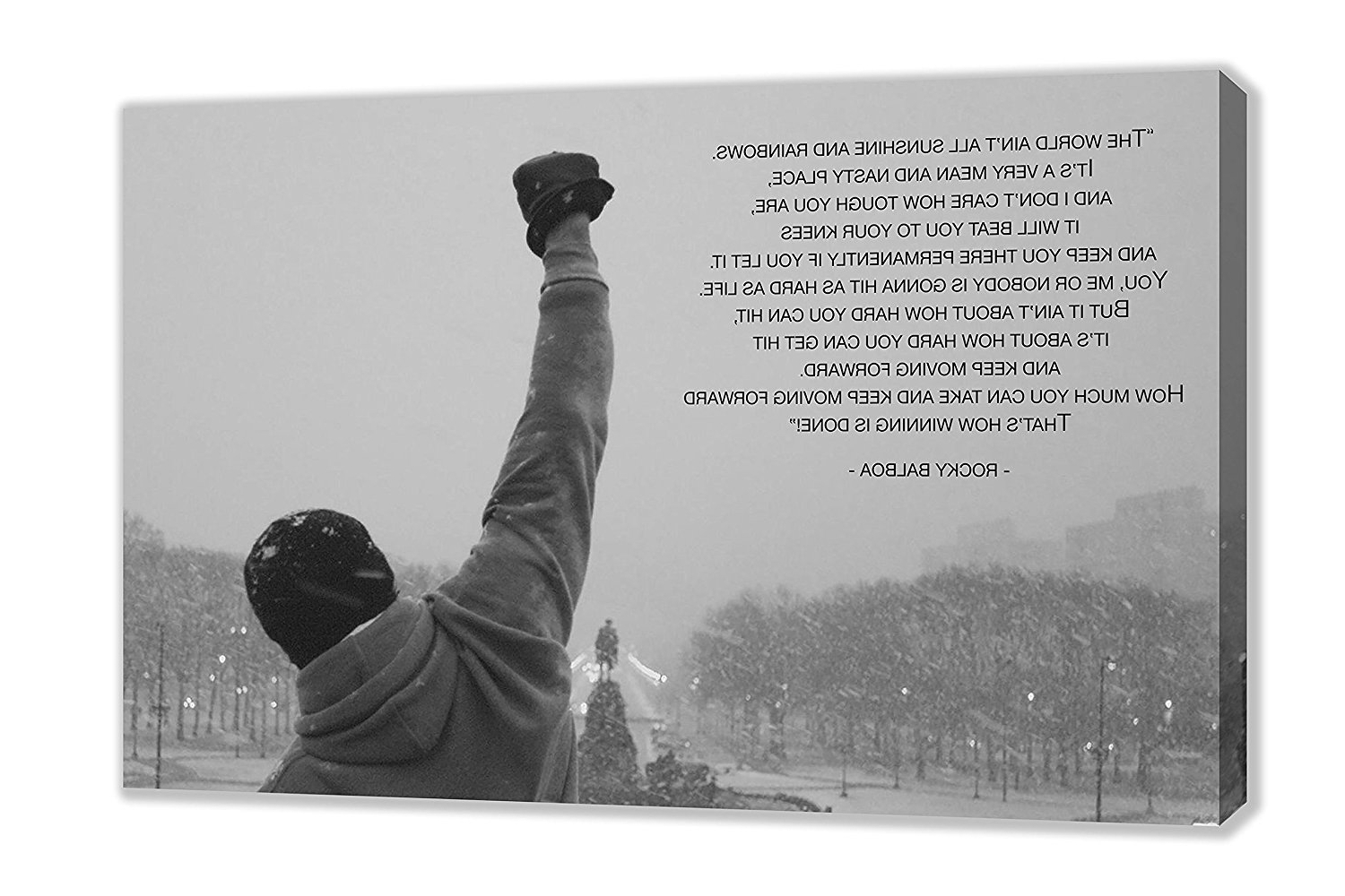 Amazon: Rocky Balboa Famous Movie Quote Philadelphia Canvas For Famous Rocky Balboa Wall Art (View 1 of 15)