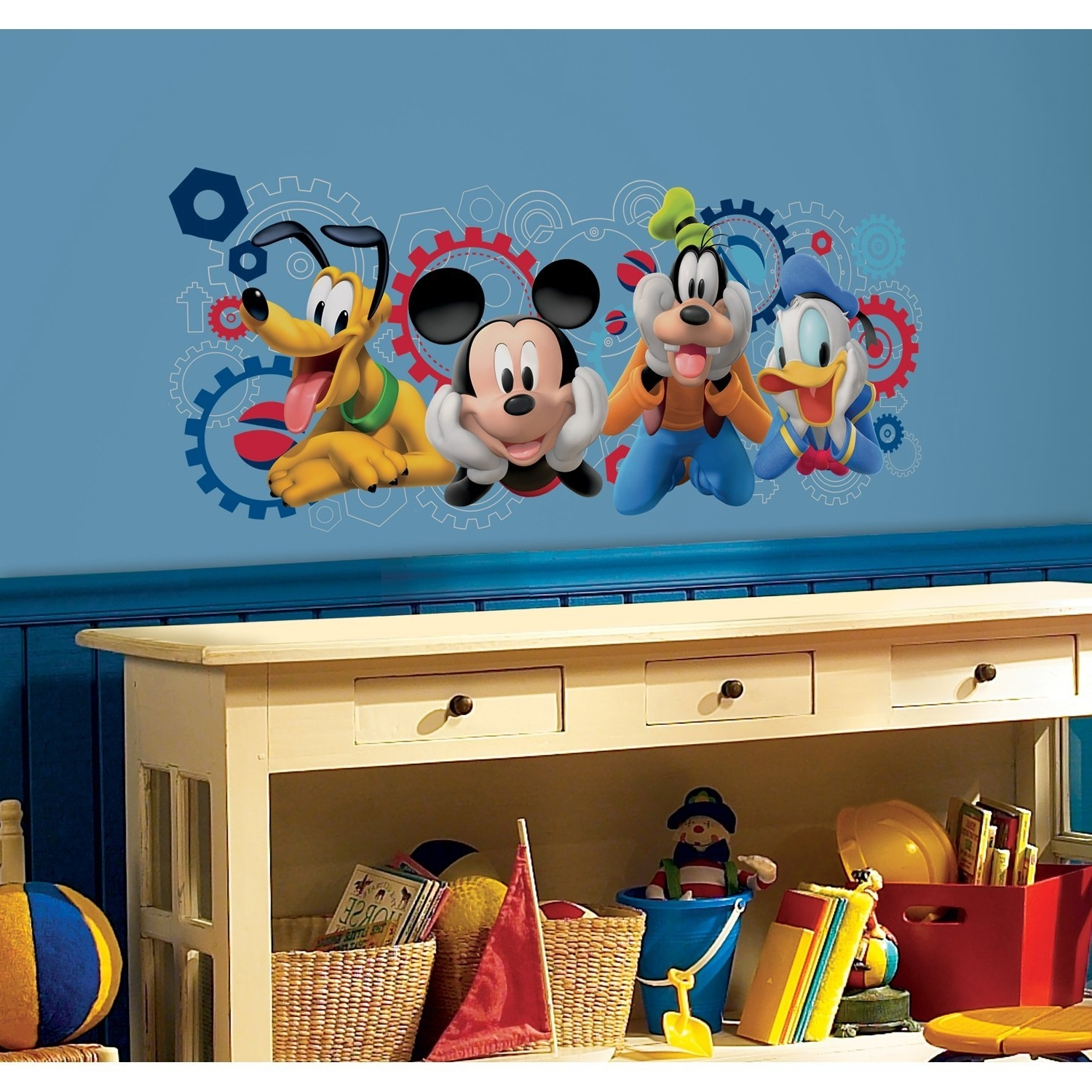 Amazon: Roommates Rmk2561Gm Mickey And Friends Mickey Mouse For Most Current Mickey Mouse Clubhouse Wall Art (View 3 of 15)