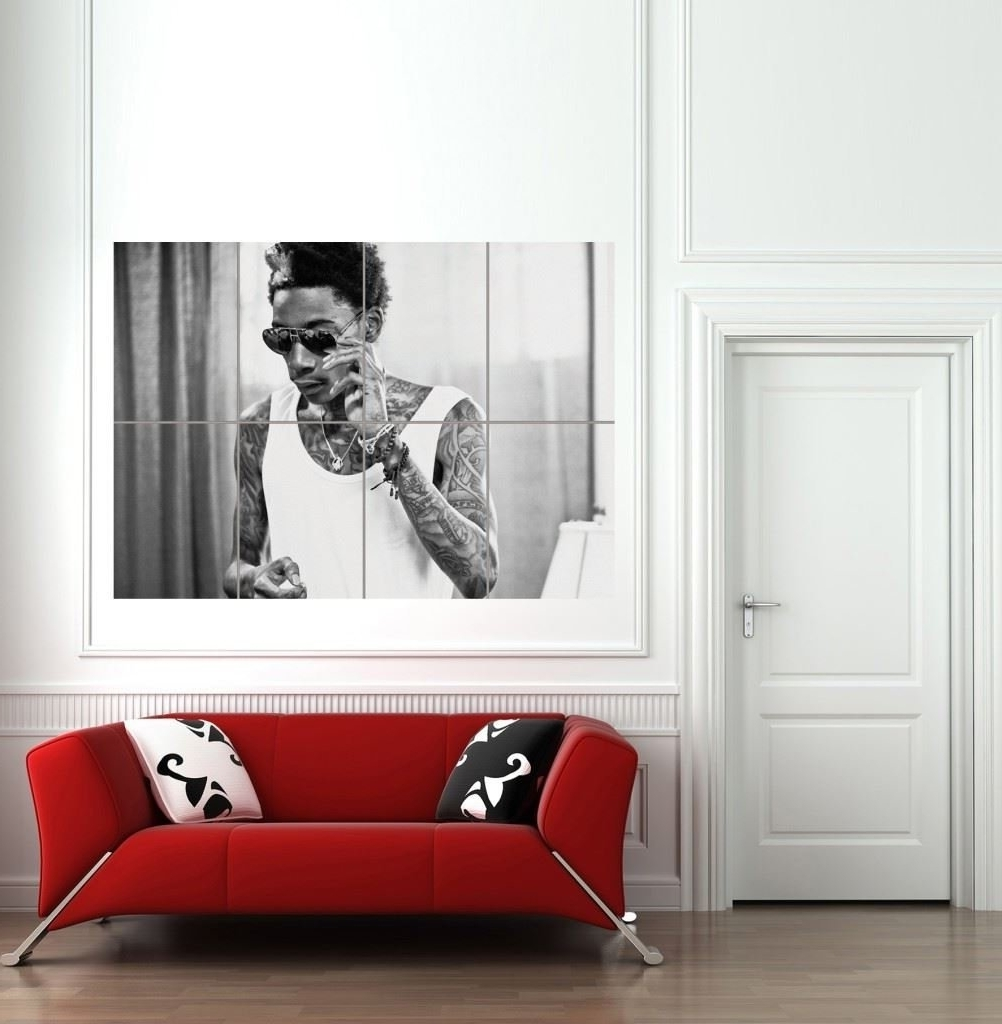 Amazon: Wiz Khalifa Giant Wall Art Print Poster Picture B926 Intended For Latest Johnny Cash Wall Art (View 15 of 15)