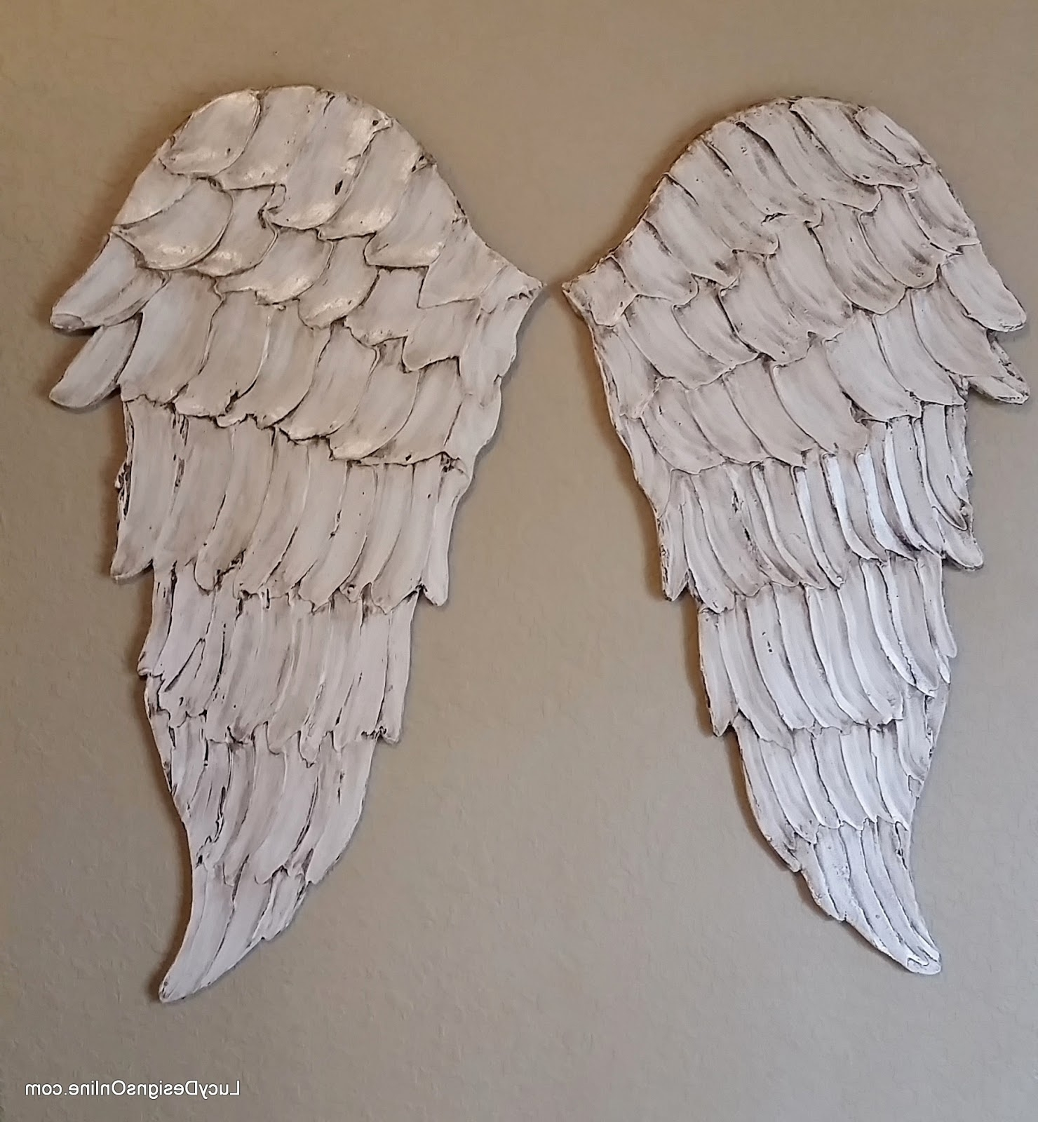 Angel Wings Textured Wood, Wall Art, Carved Wood Look, Angel Wing Intended For Popular Angel Wings Wall Art (View 1 of 15)