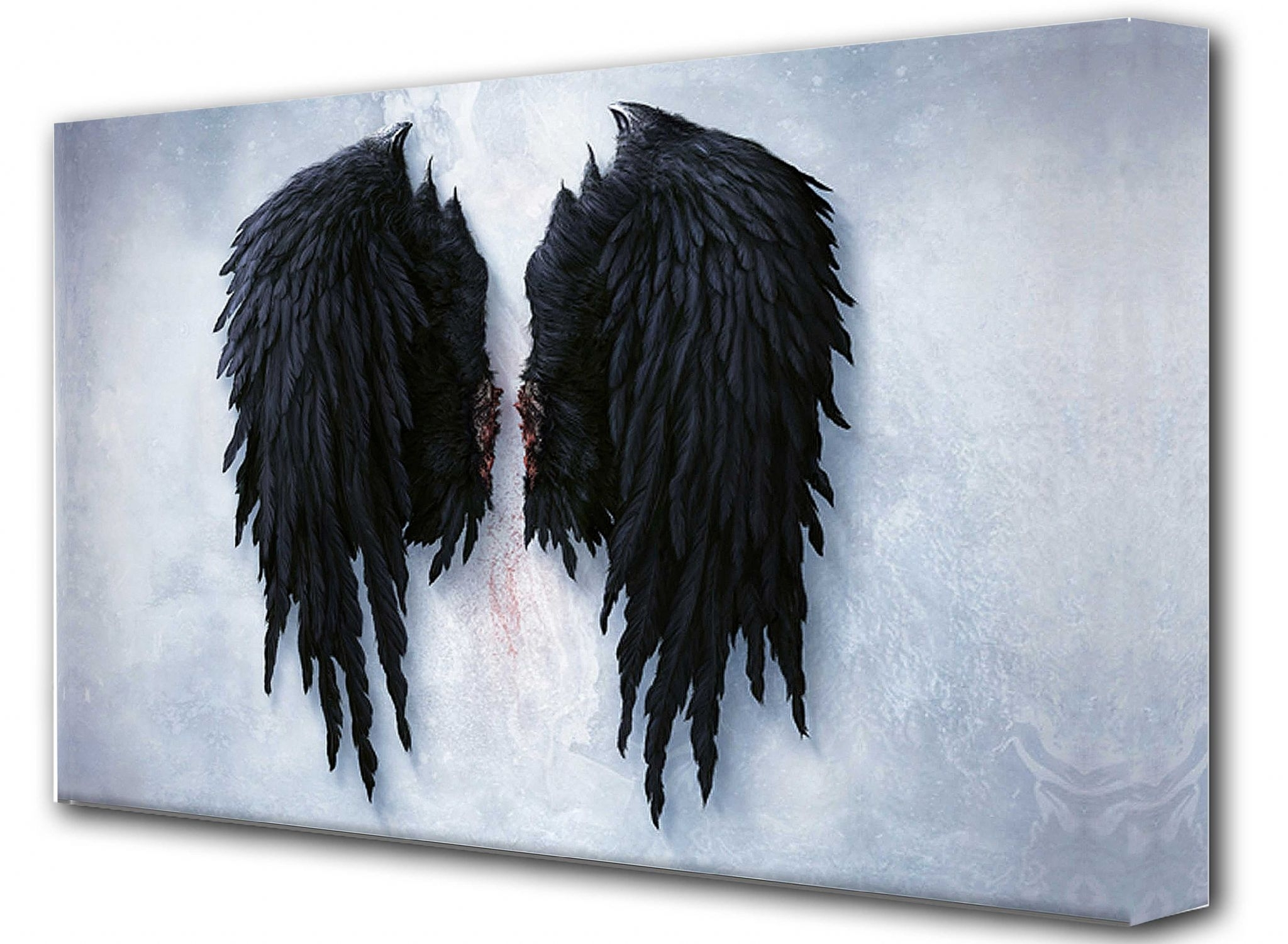 Angel Wings Wall Art For Famous Banksy Framed Canvas Wall Art – Angel Wings (View 2 of 15)