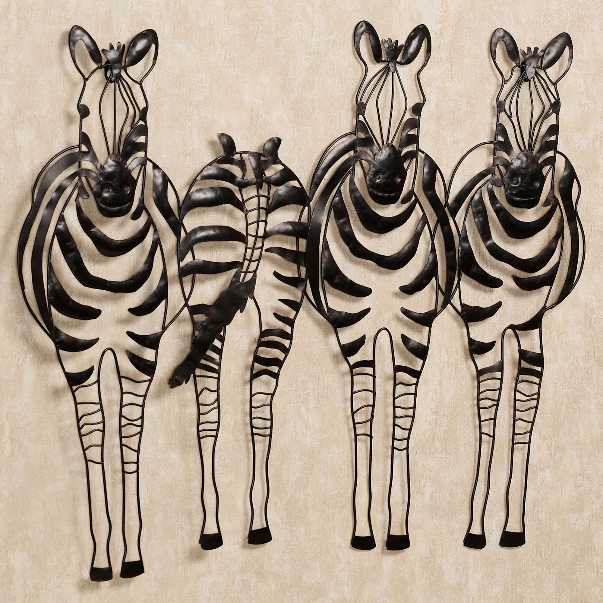 Animal Wall Art Inside Best And Newest You Go Your Way Zebra Metal Wall Sculpture Art (View 3 of 15)