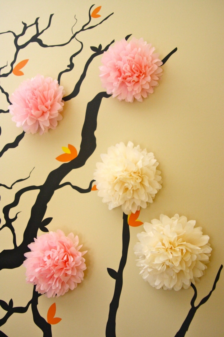 Apartment, Cool Flower Cherry Blossom 3D Wall Mural Baby Nursery Throughout Newest Blossom White 3D Wall Art (View 3 of 15)