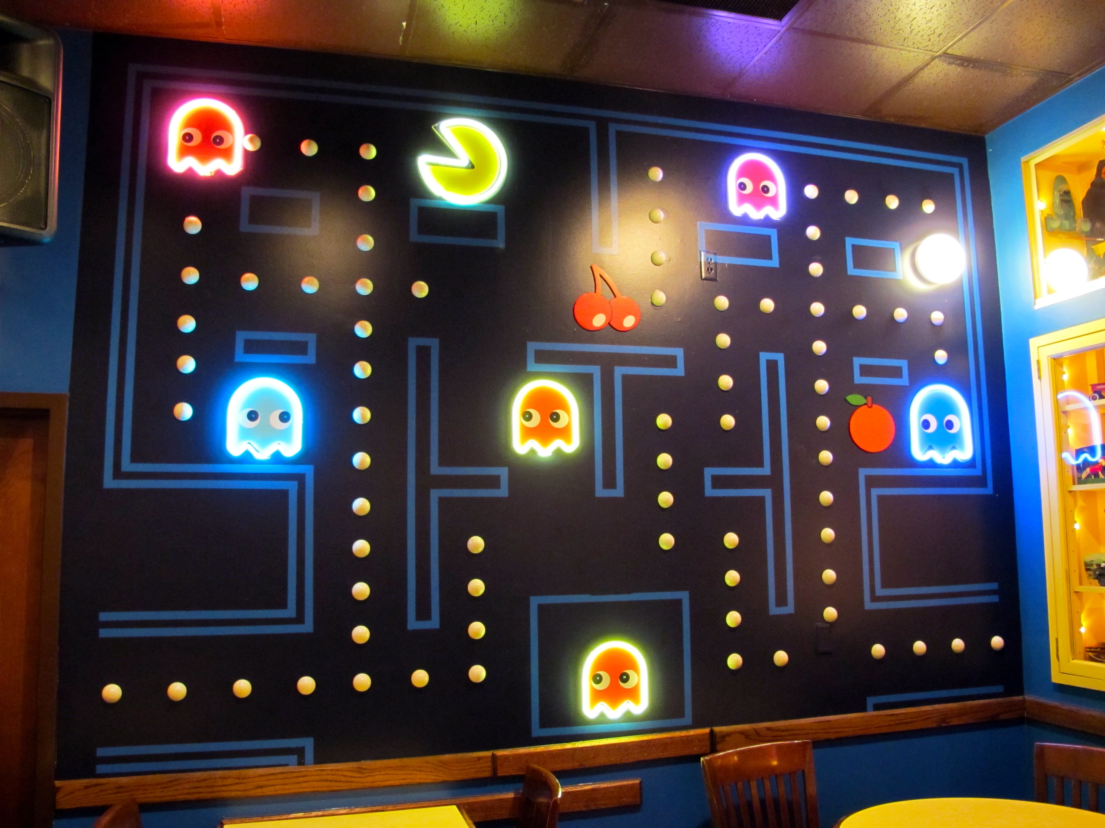 Arcade Wall Art Inside Trendy Pac Man Room At The Blueberry Hill Restaurant In St (View 4 of 15)
