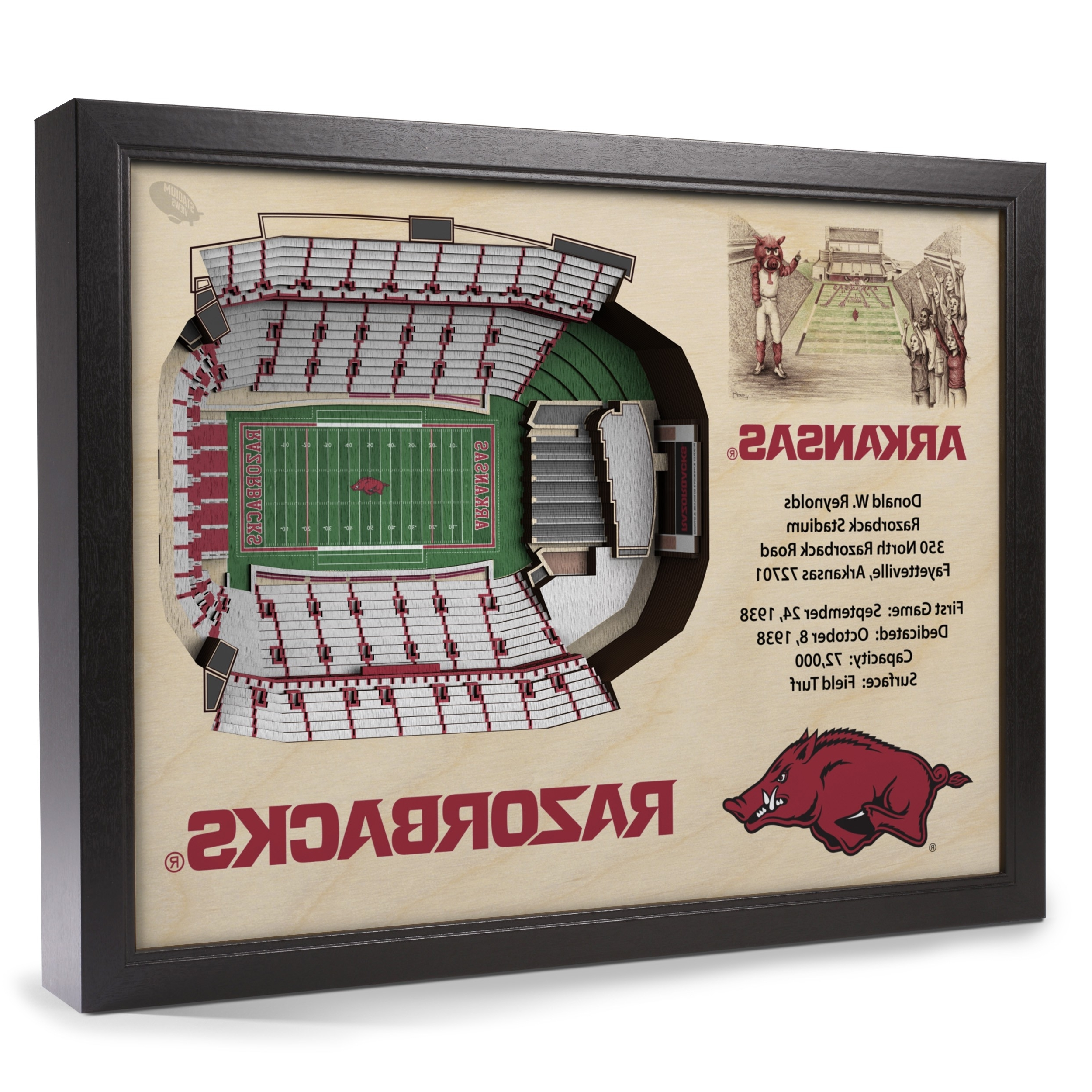 Arkansas Razorbacks Stadiumview Wall Art – Donald W (View 11 of 15)