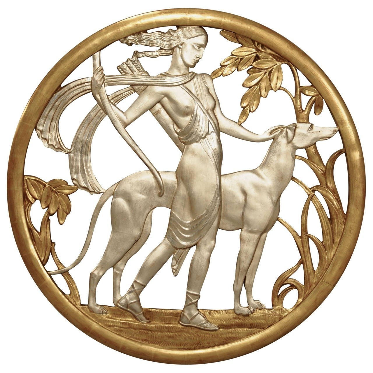 Art Deco Metal Wall Art Pertaining To Famous Important Art Deco Mythological Gilt Wall Plaque For Sale At 1Stdibs (View 4 of 15)