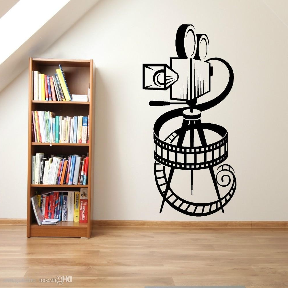 Art Design Movie Camera Film Reel Wall Sticker Home Art Decor In Fashionable Movie Reel Wall Art (View 2 of 15)
