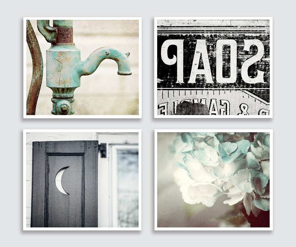 Art For Bathrooms Walls With 2017 Amazon: Bathroom Decor Set Of 4 Photographs – Discount (View 3 of 15)