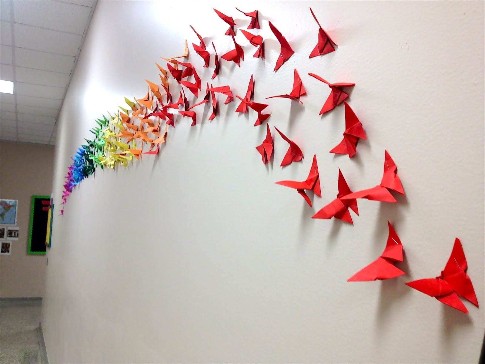 Art: School At Inside Rainbow Butterfly Wall Art (View 2 of 15)