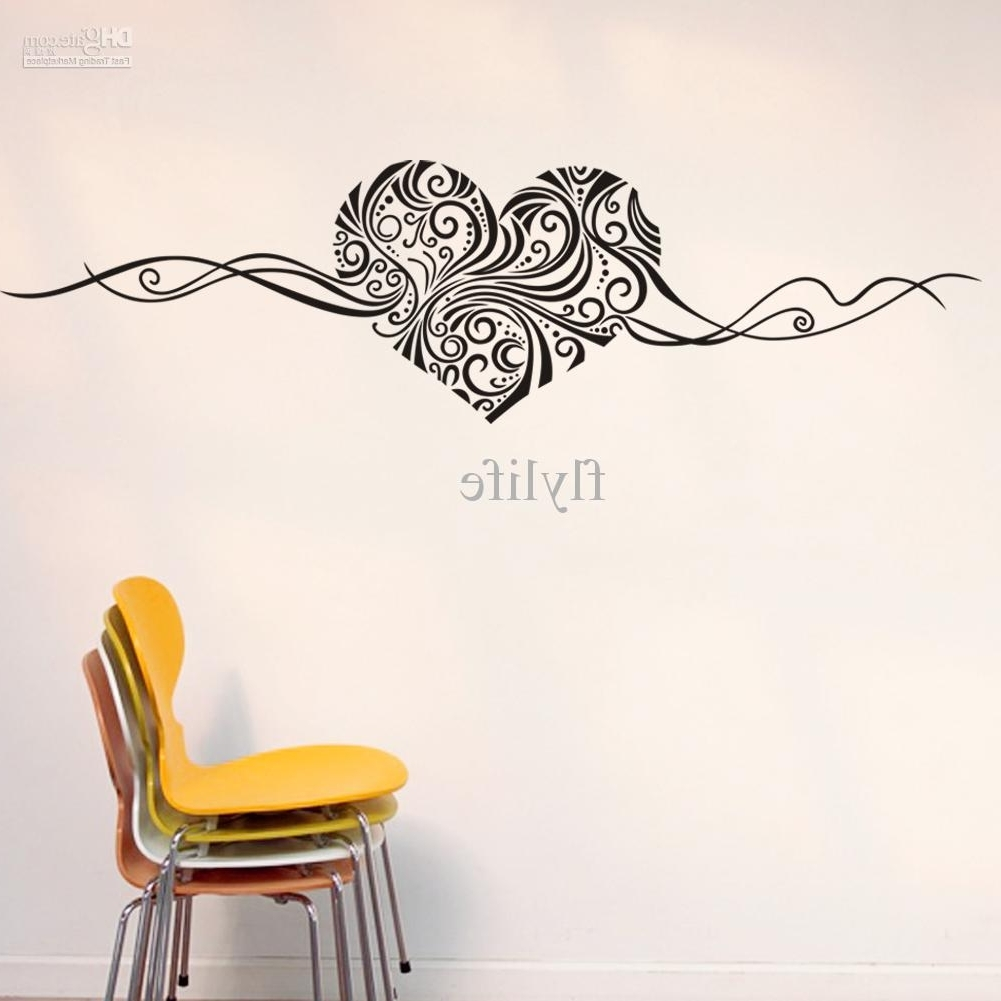 Artistic Heart Love Shape Wall Stickers, Vinyl Art Home Room Wall Throughout Most Recently Released Heart Shaped Metal Wall Art (View 5 of 15)