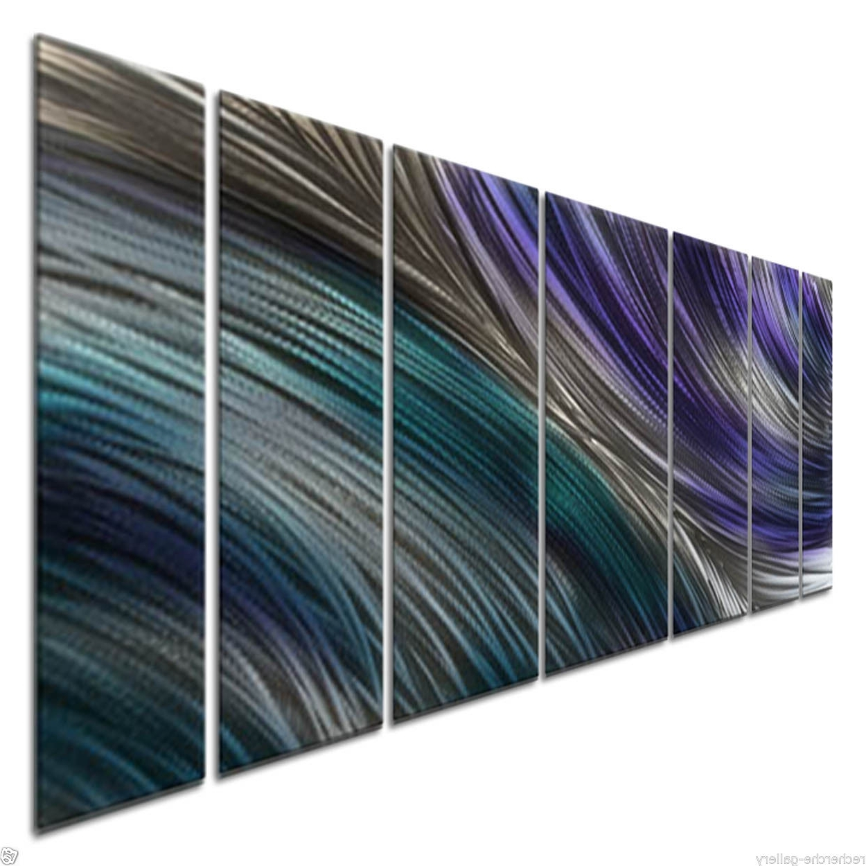 Ash Carl Metal Art In Favorite Cool Collision Metal Artash Carl Contemporary Home Decor Wall (View 4 of 15)