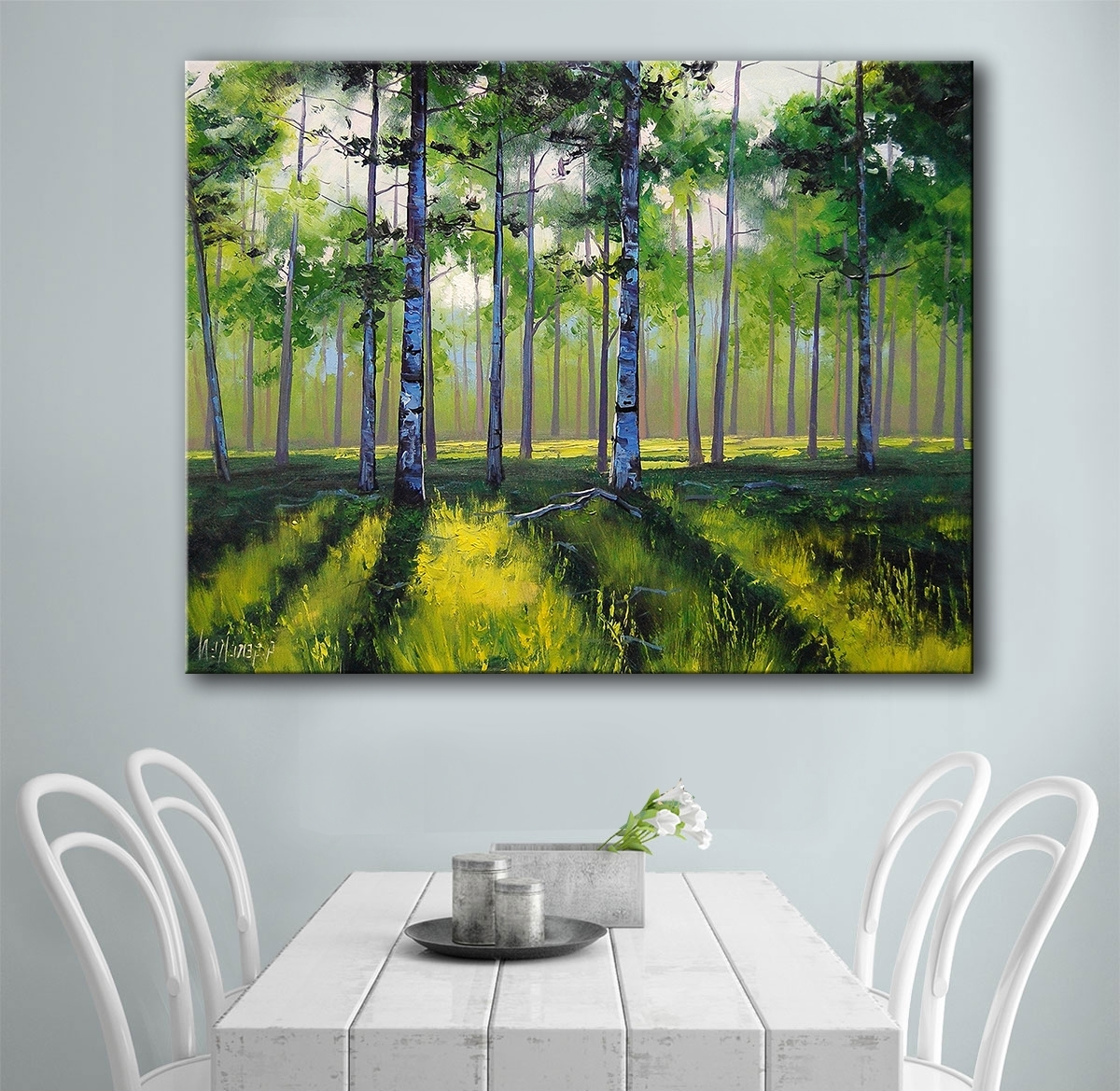 Aspen Tree Wall Art In Newest Buy Aspen Tree Painting And Get Free Shipping On Aliexpress (View 3 of 15)