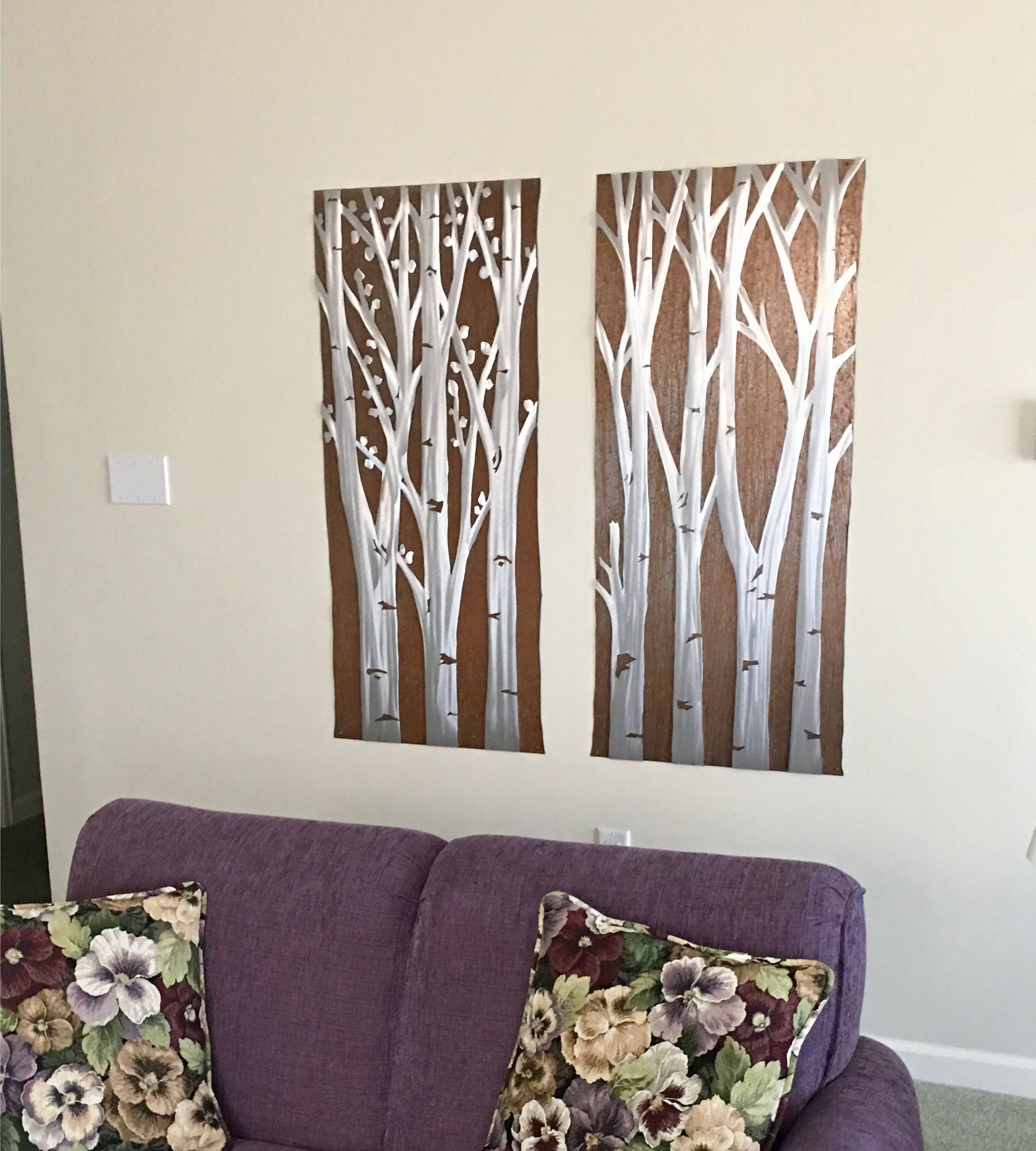 Aspen Tree Wall Art Throughout Trendy Aspen Trees. Large Metal Wall Art (View 6 of 15)