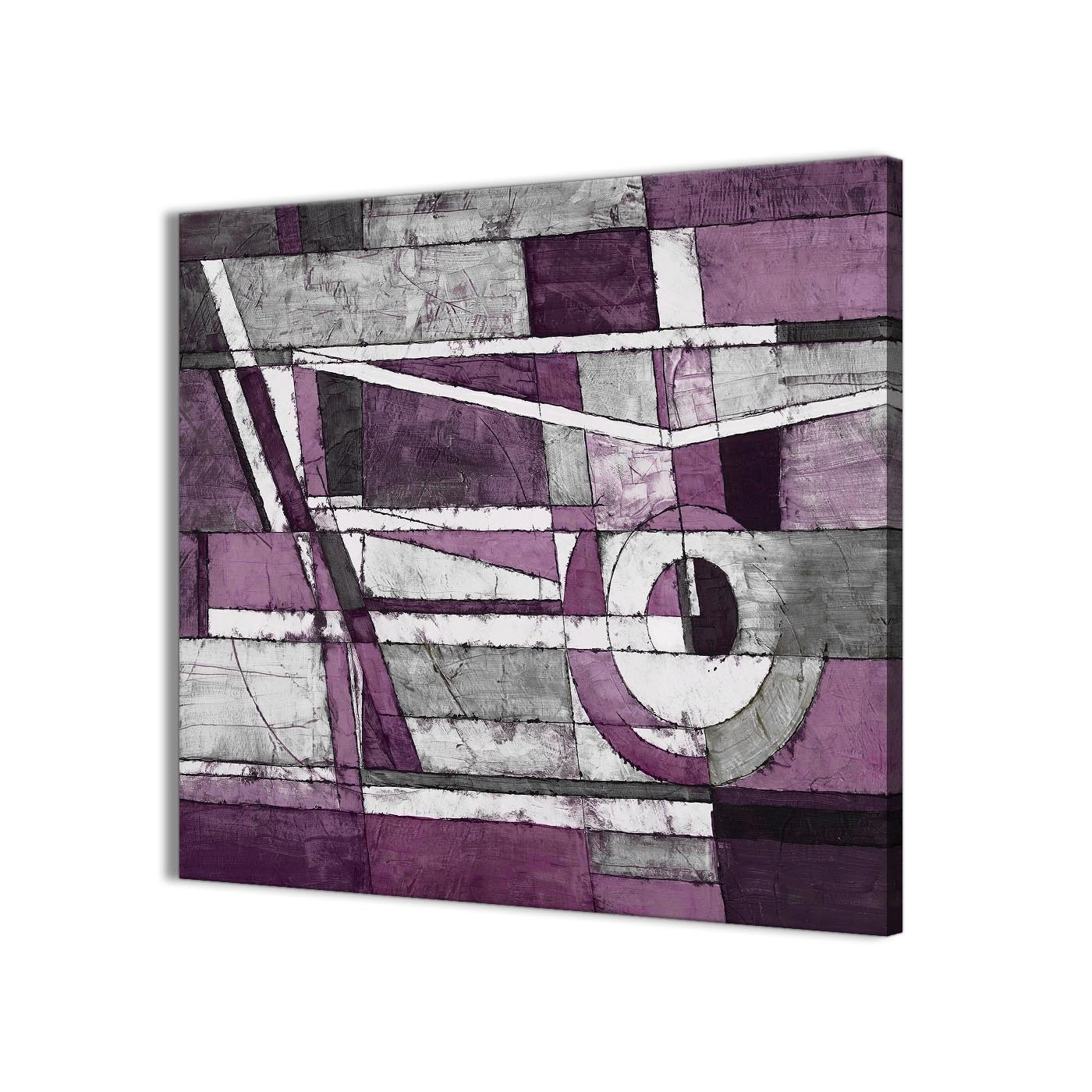 Aubergine Wall Art Pertaining To Well Liked Aubergine Grey White Painting Stairway Canvas Wall Art Decorations (View 5 of 15)