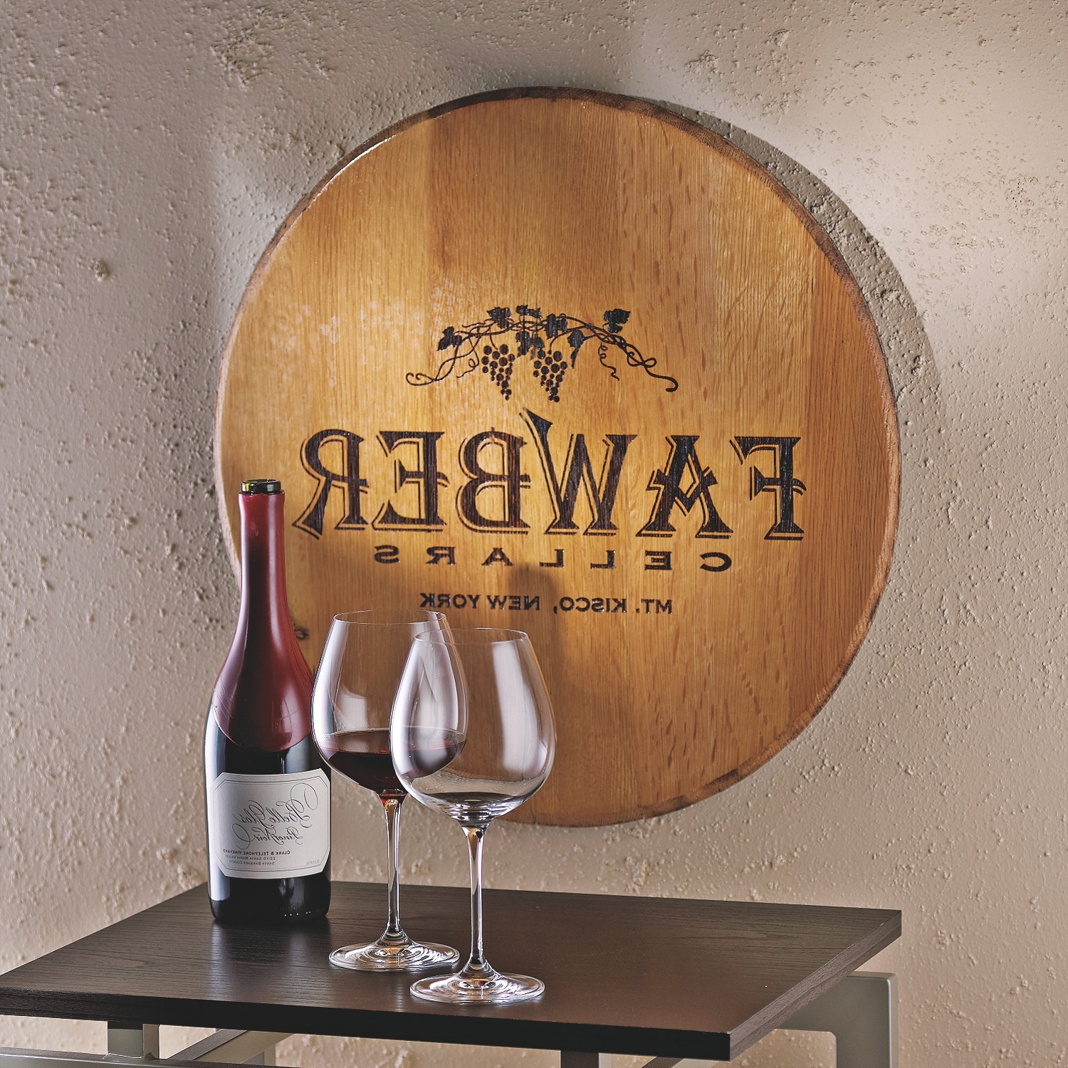 Authentic Barrel Head Wall Plaque With Personalized Wine Theme Within Well Liked Wine Theme Wall Art (View 2 of 15)