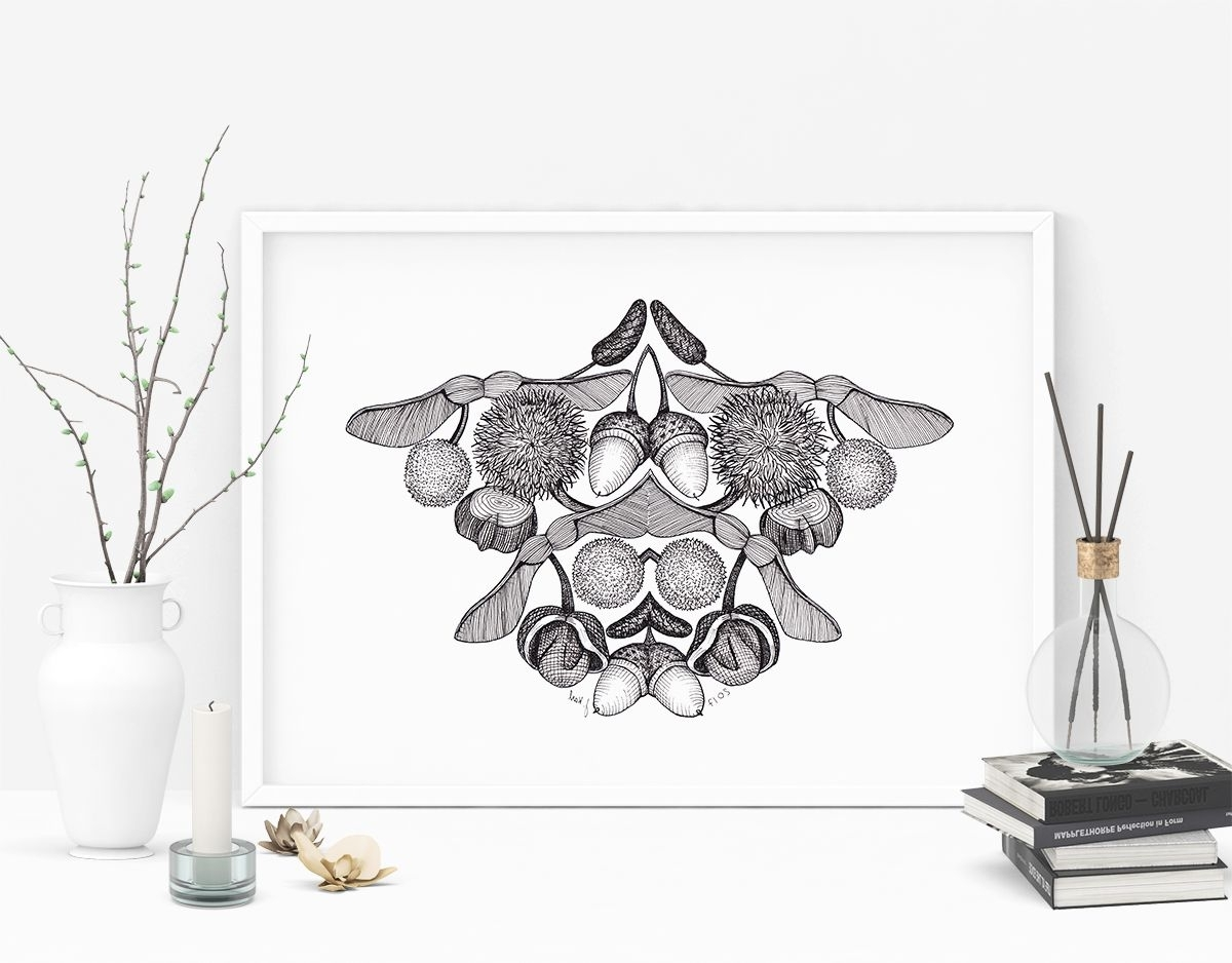 Autumn Inspired Wall Art Within Recent Rorschach's Autumn – Abstract Botanical Wall Art (View 8 of 15)