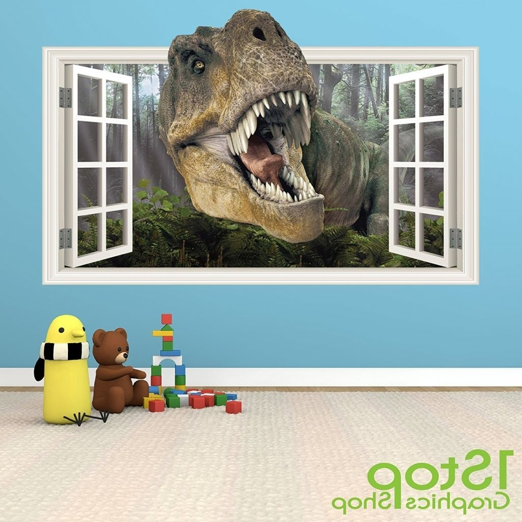 Awesome Design Ideas 3D Dinosaur Wall Art In Conjunction With Inside Fashionable Beetling Brachiosaurus Dinosaur 3D Wall Art (View 3 of 10)