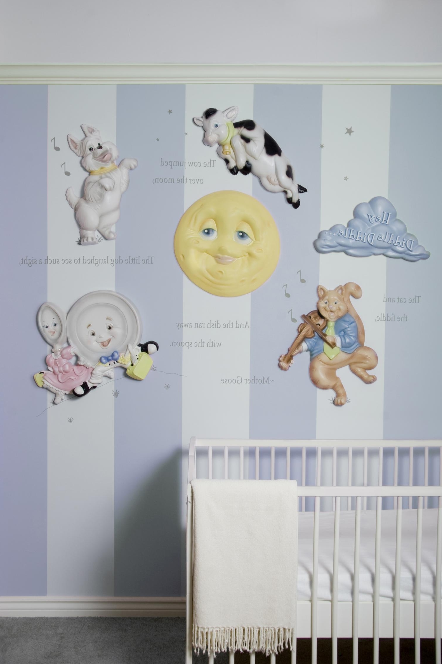 Baby Nursery 3D Wall Art With Regard To 2017 Mother Goose Nursery Rhymes 3D Wall Art Decorbeetling Design (View 7 of 15)