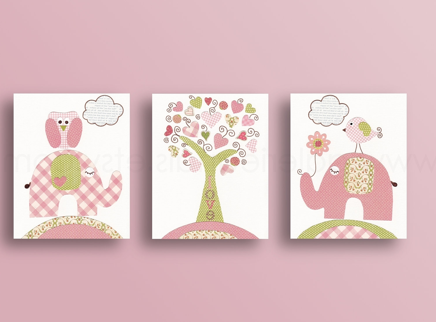 Baby Nursery Decor: Three Baby Nursery Wall Art Panel Simple Trees Intended For Widely Used Canvas Prints For Baby Nursery (View 5 of 15)