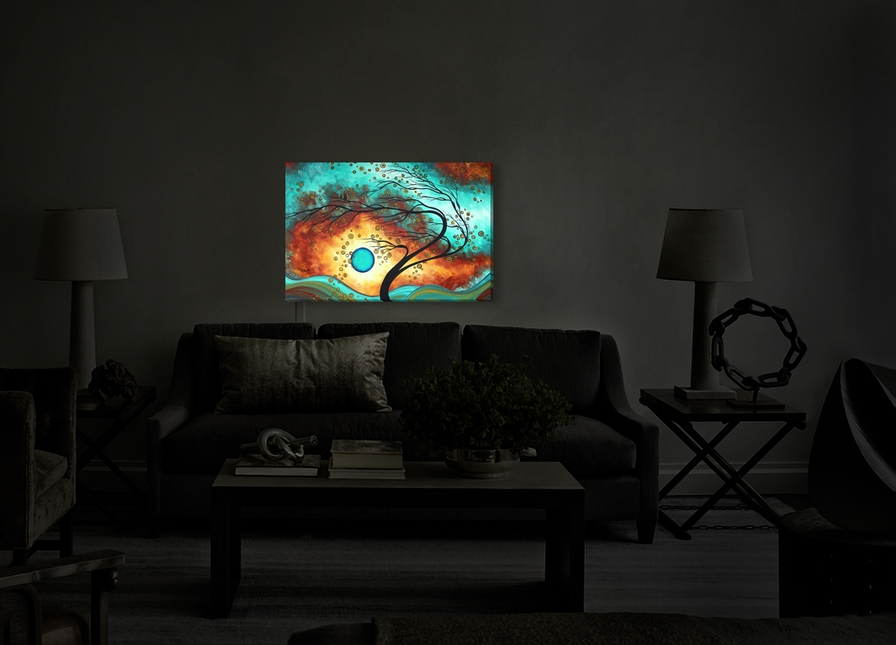 Backlit Wall Art For Most Current Wall Art Decor Ideas: Introduction Glowing Illuminated Wall Art (View 2 of 15)