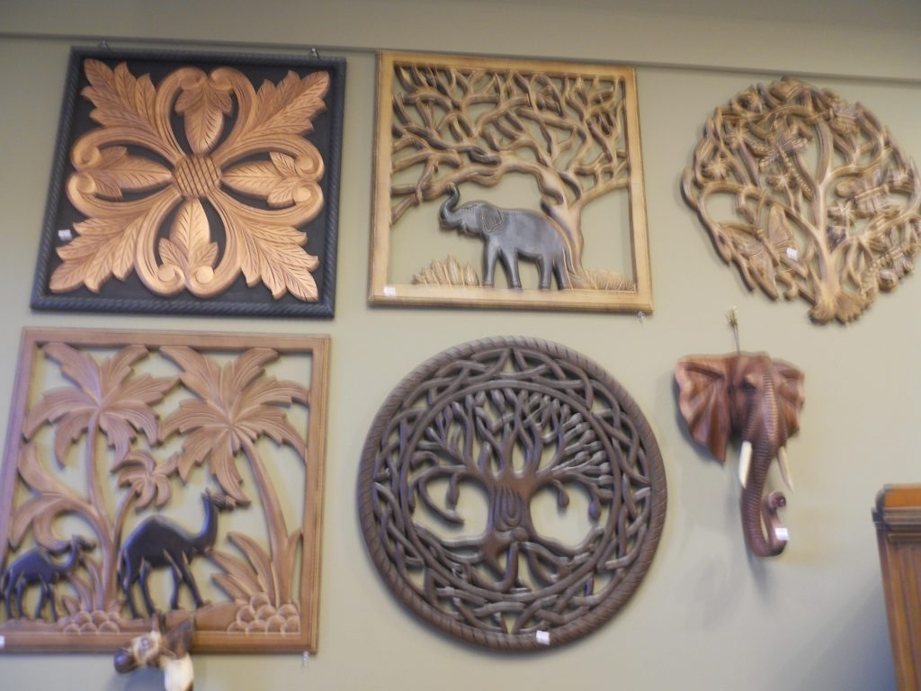 Balinese Wall Art Pertaining To Preferred Precious Carved Wood Wall Decor Antique Balinese Panels Panel Teak (View 5 of 15)