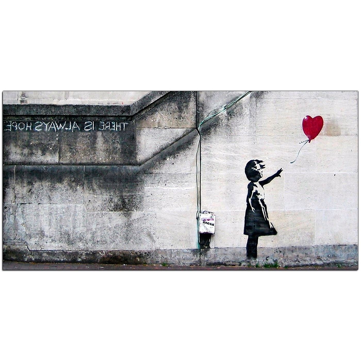 Banksy Canvas Wall Art For Fashionable Banksy Large Canvas Prints – Girl With The Red Balloon For Dining Room (View 8 of 15)