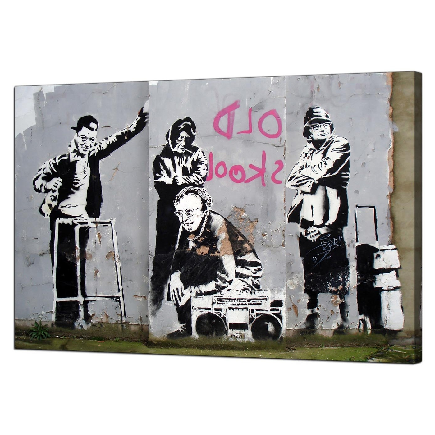 Banksy Canvas Wall Art Pertaining To Well Liked Banksy Canvas Prints – Old Skool (View 8 of 15)