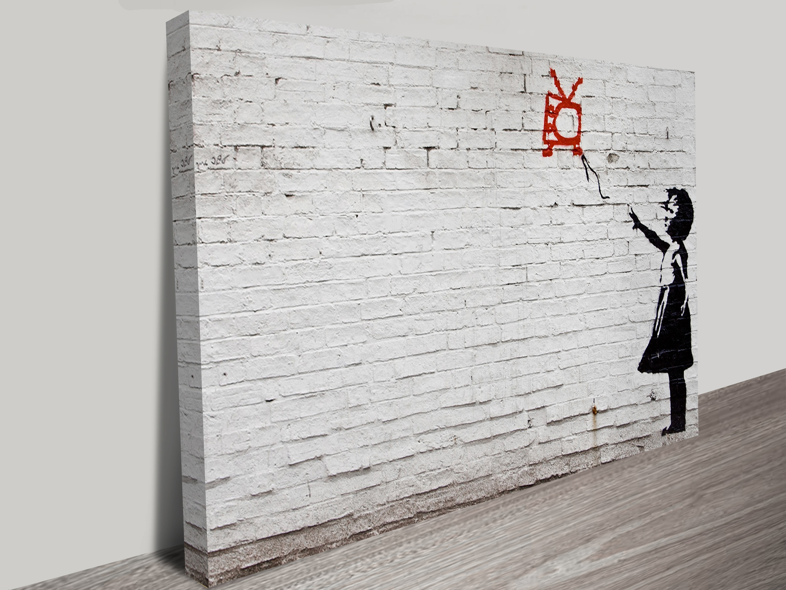 Banksy Wall Art Canvas Inside Most Recent Balloon Girl On Wall Canvas Print (View 6 of 15)