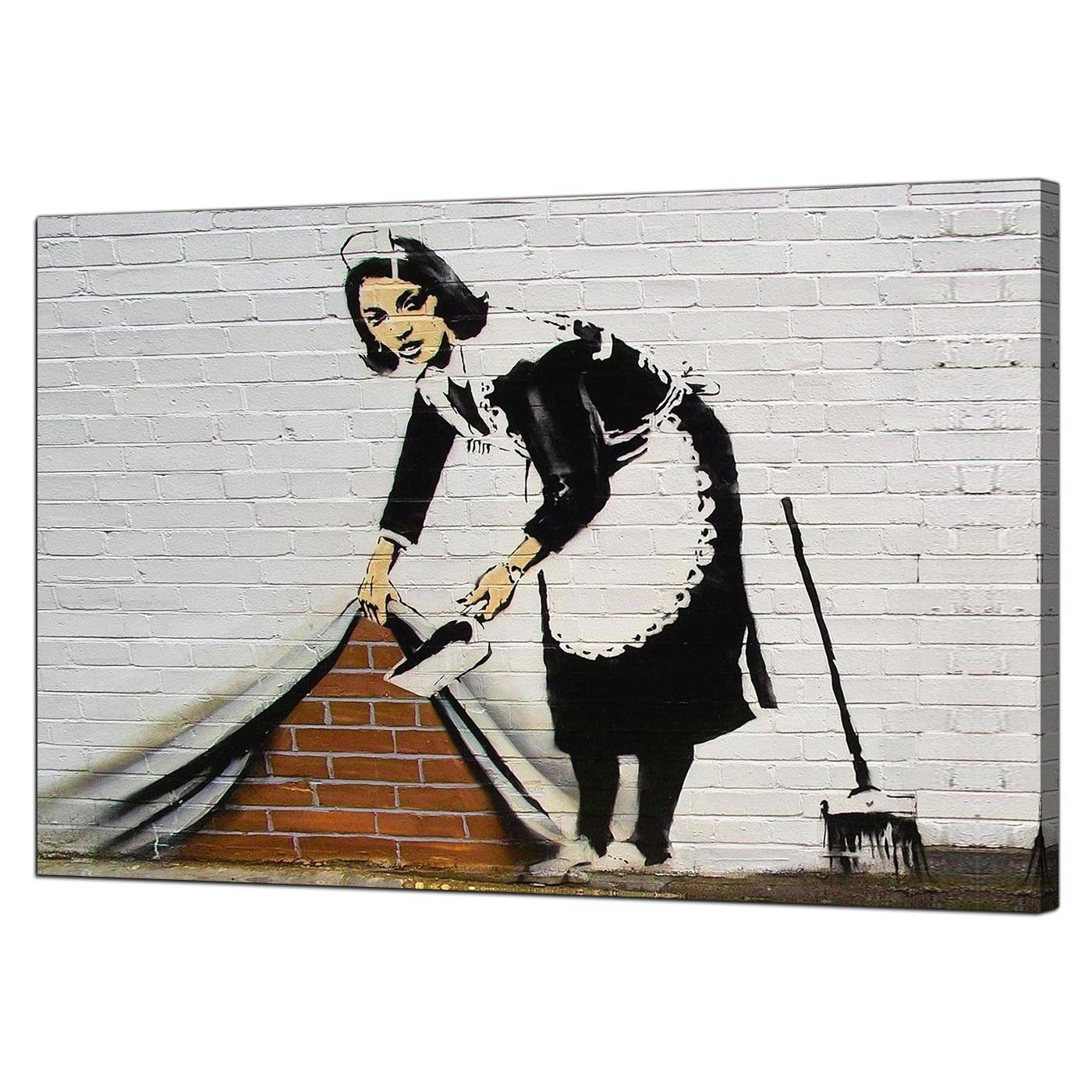 Banksy Wall Art Canvas Throughout Newest Banksy Canvas Prints – Sweeping It Under The Carpet (View 7 of 15)
