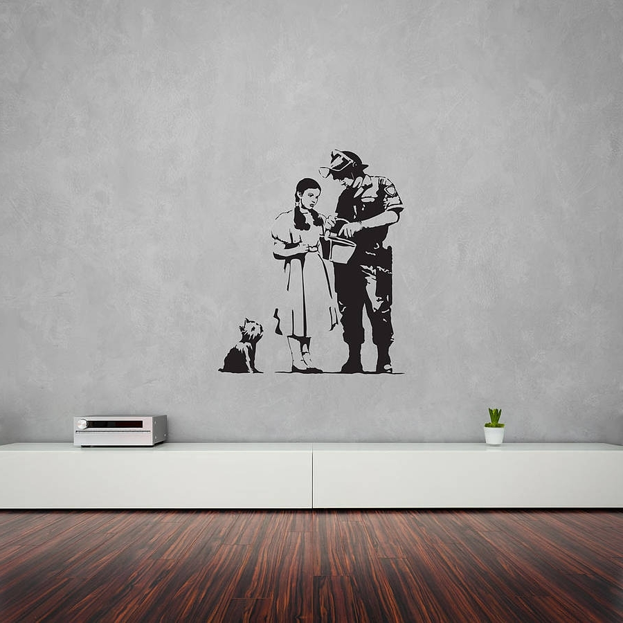 Banksy Wizard Of Oz Stop And Search Wall Artvinyl Revolution With Regard To 2017 Wizard Of Oz Wall Art (View 2 of 15)
