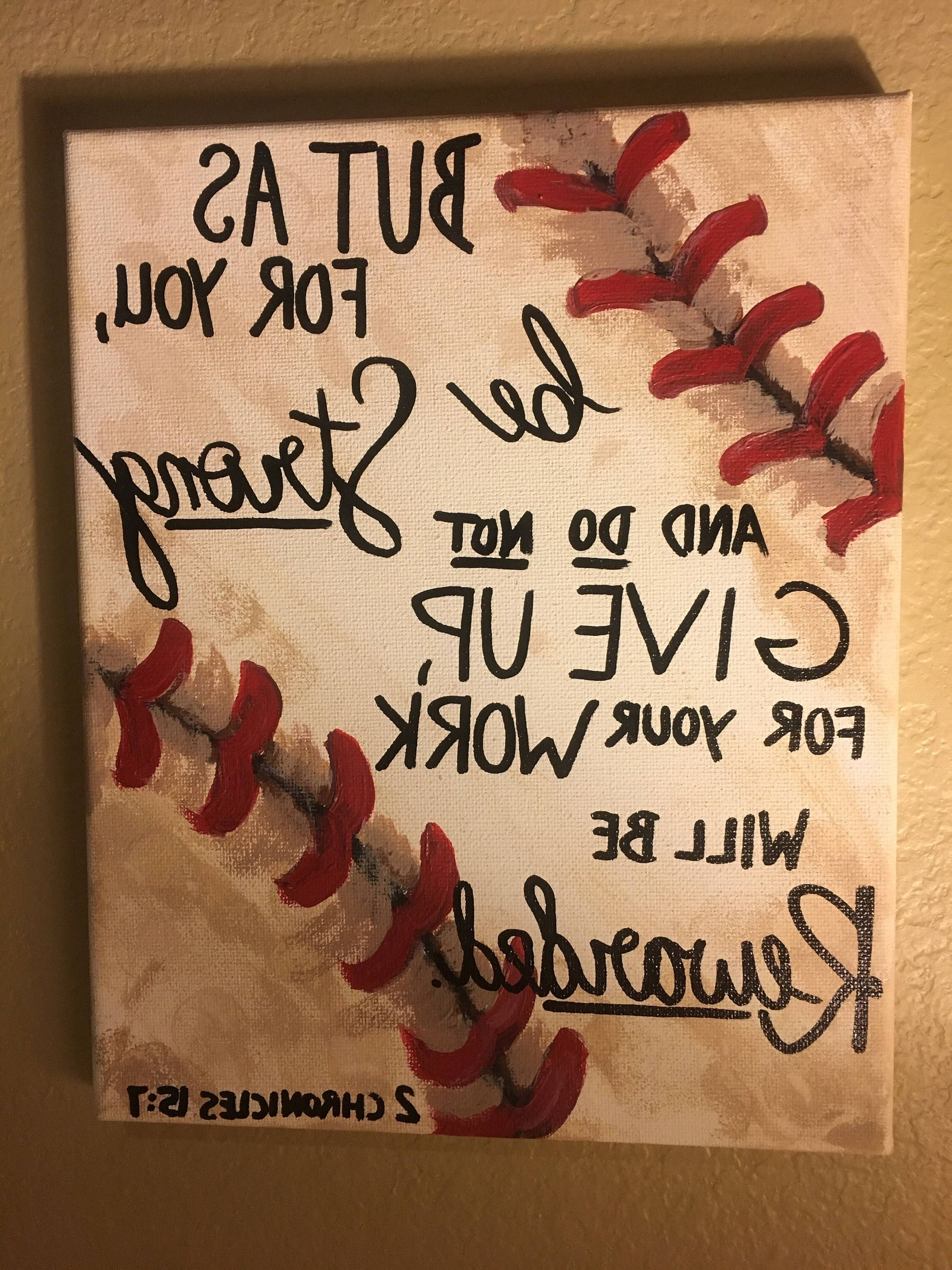 Baseball Decor Bible Quote 2 Chronicles 15:7 (Gallery 14 Of 15). Previous  Photo Vintage Baseball Wall Art