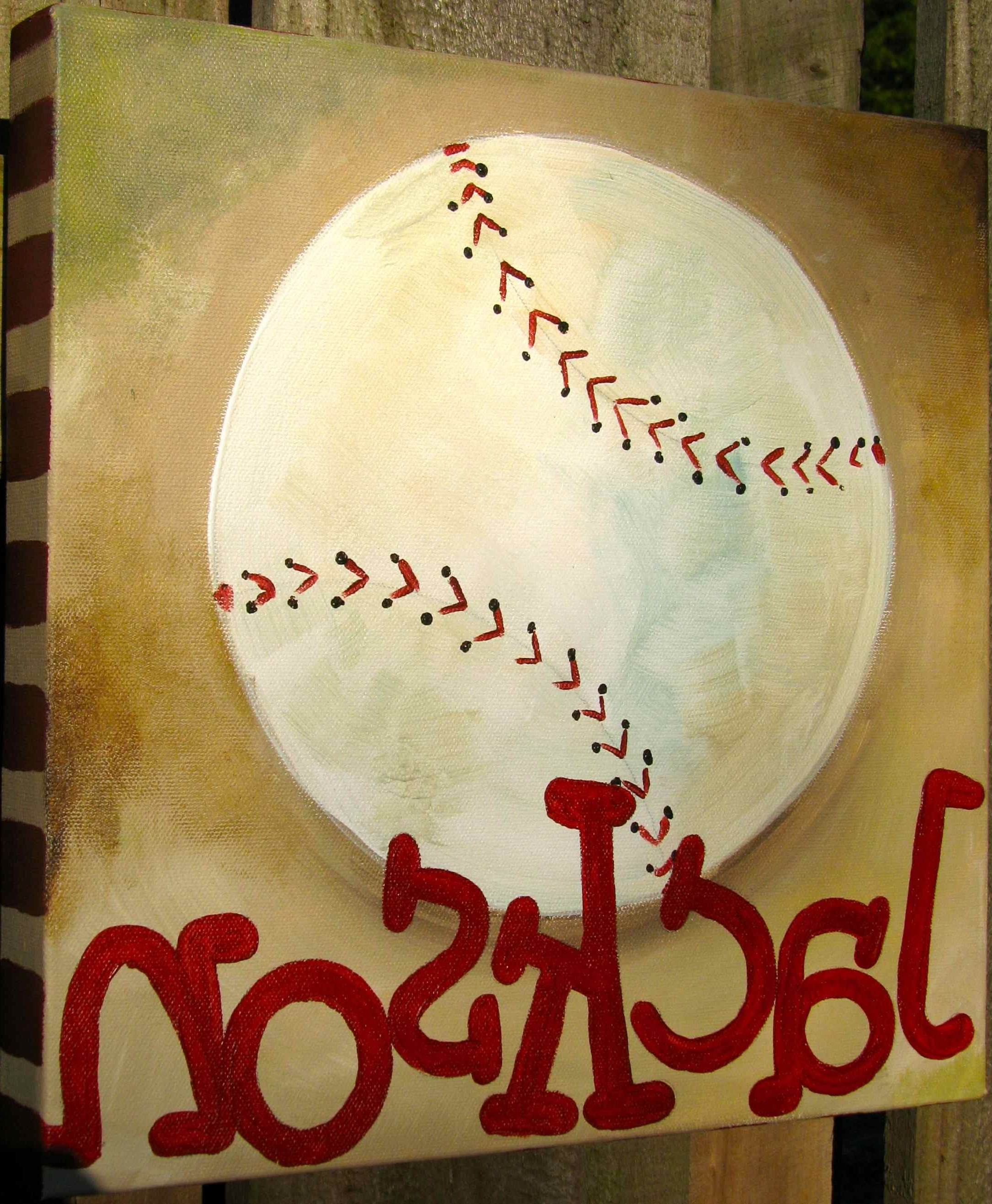 Baseball Painting, Google Images And Pertaining To Newest Vintage Baseball Wall Art (View 3 of 15)
