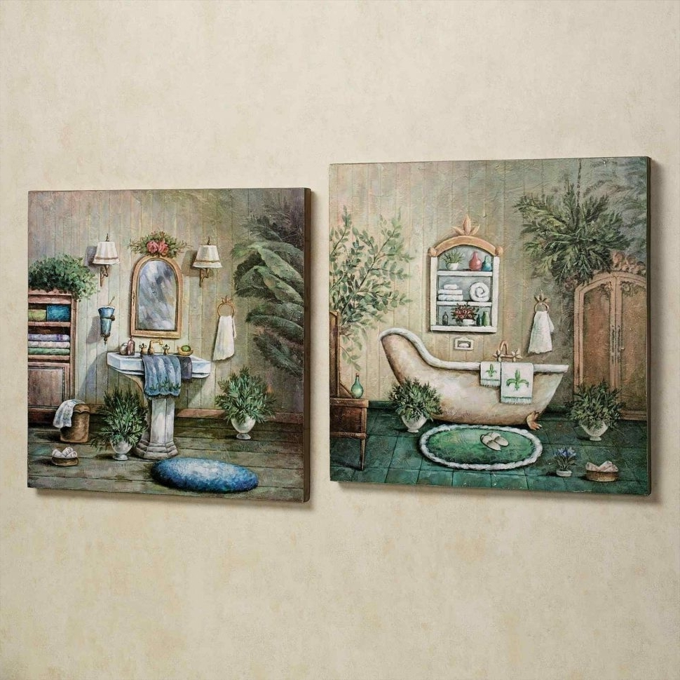 Bathrooms Design : Yellow Bathroom Wall Art Bath Wall Art Decor Throughout 2018 Red Bathroom Wall Art (View 12 of 15)