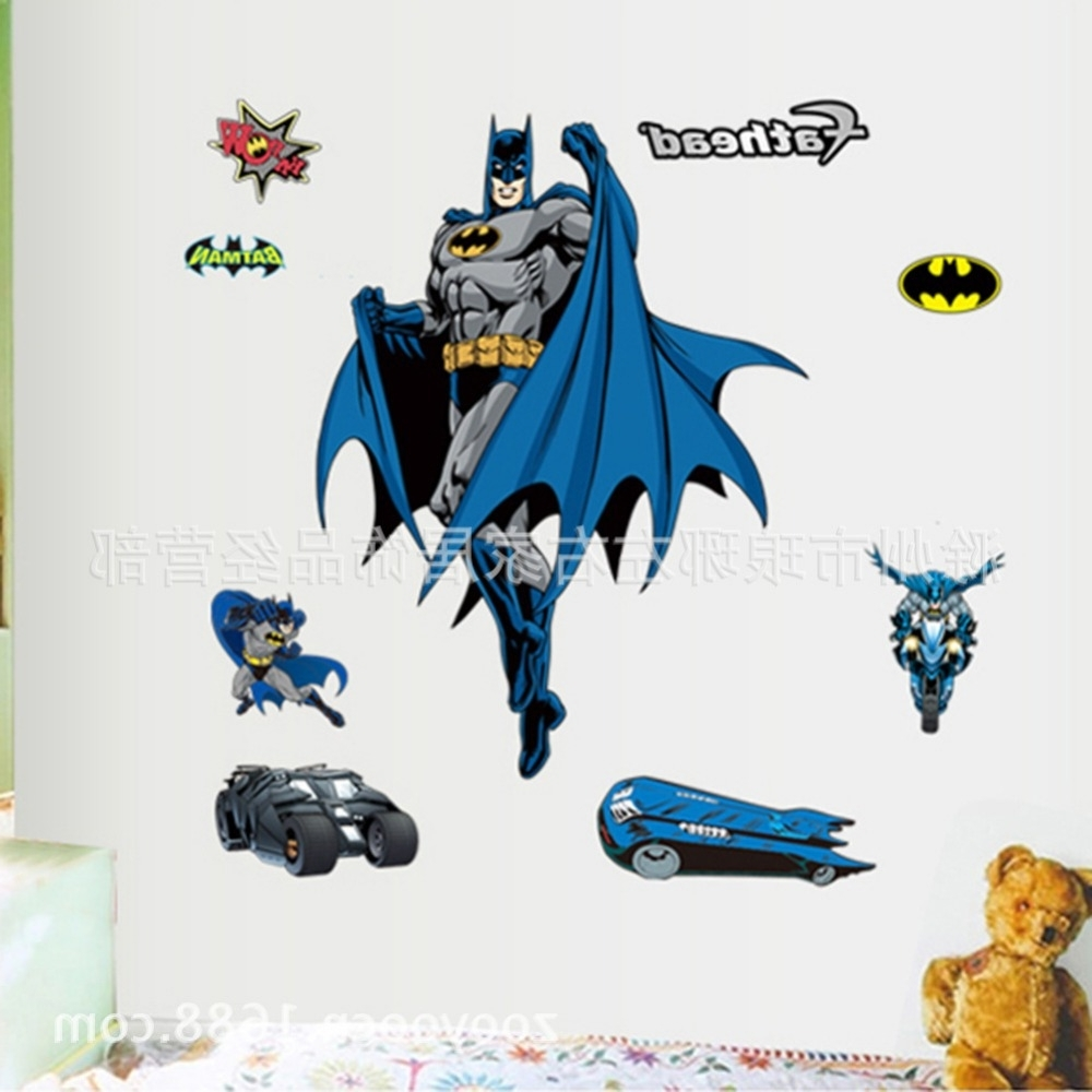 Batman 3D Wall Stickers Cartoon Cute Wall Sticker For Kids Room Inside Well Liked Batman 3D Wall Art (View 6 of 15)
