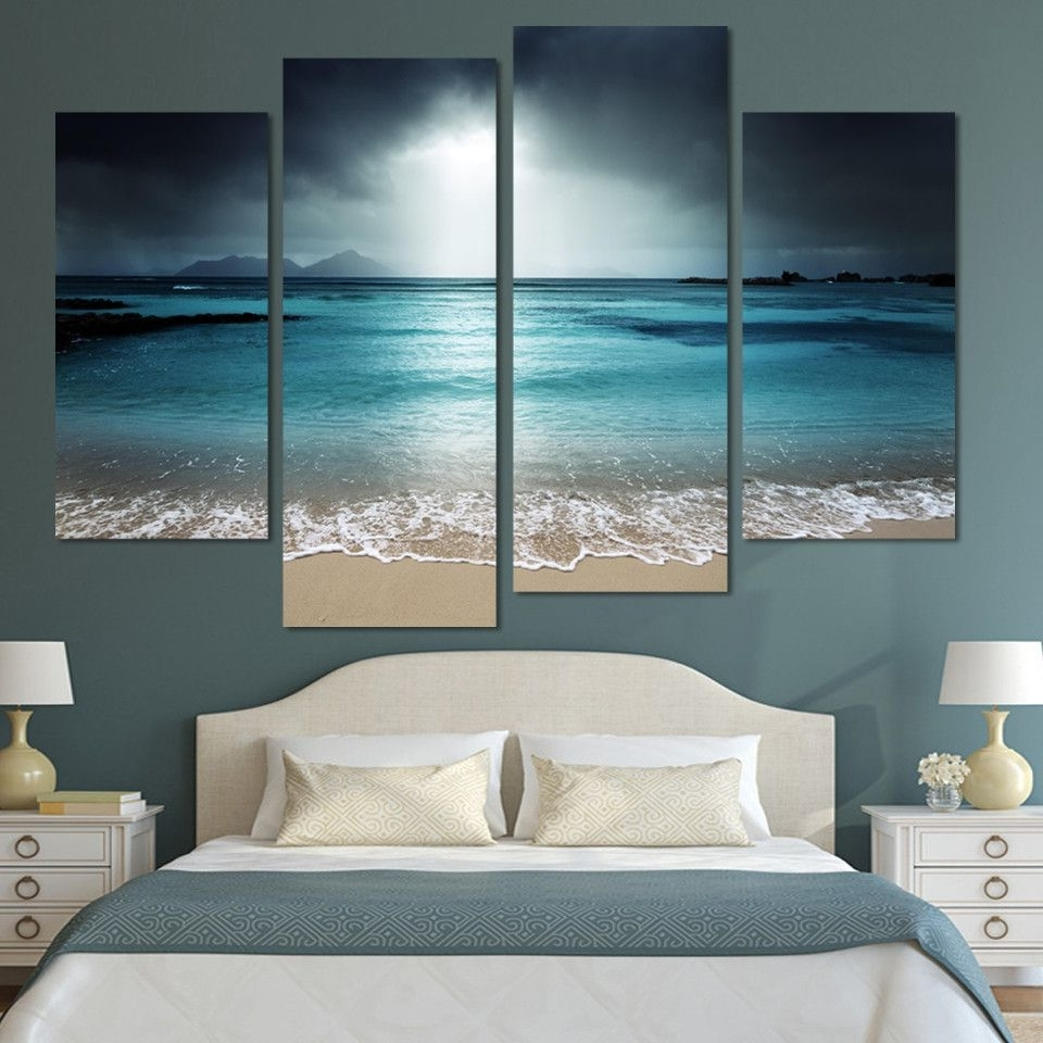 Beach Wall Art For Bedroom Inside Well Liked From $ (View 4 of 15)