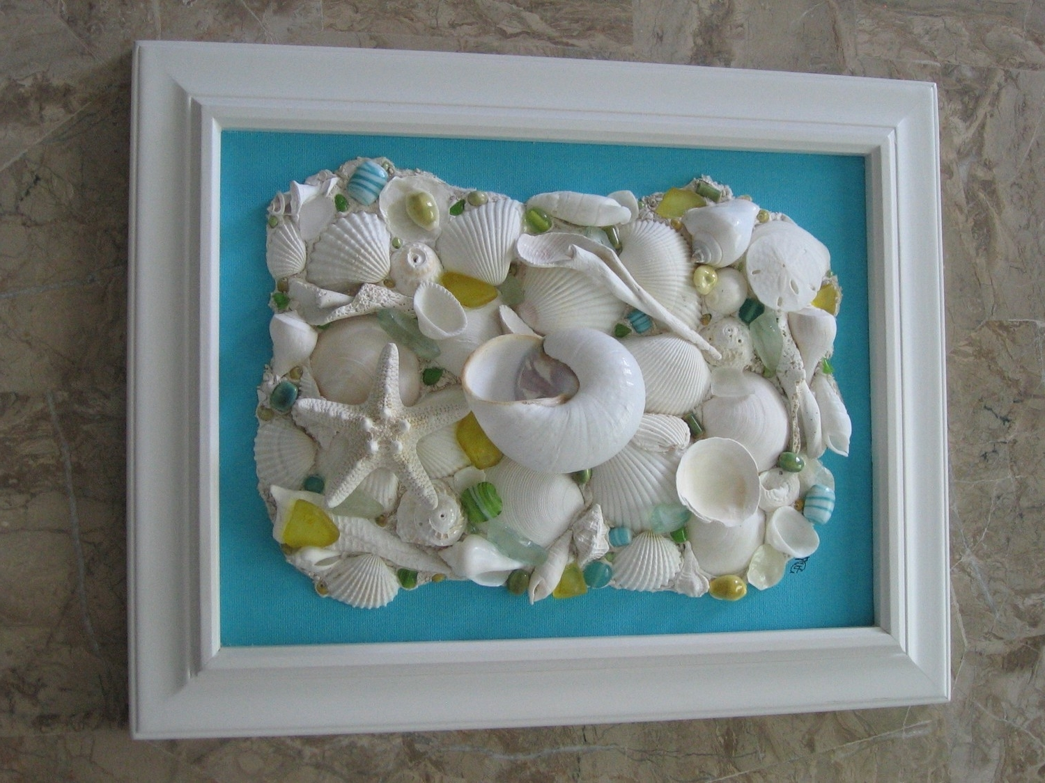 Beautiful Habitat: Framed Objects As Wall Art {Guest Post} Pertaining To Well Known Wall Art With Seashells (View 1 of 15)