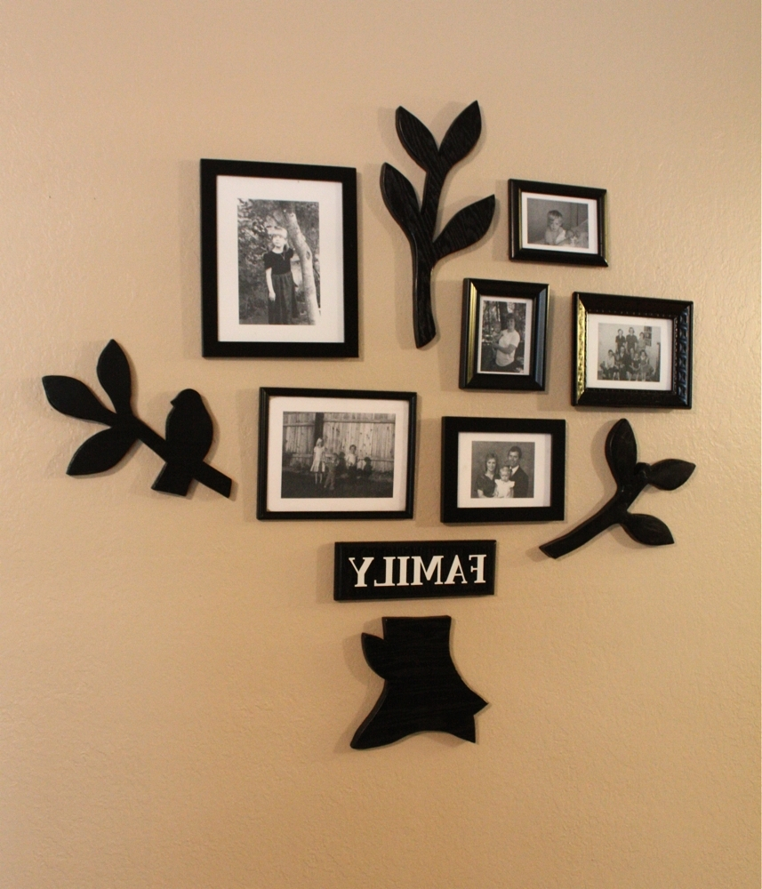 Bed Bath And Beyond 3D Wall Art Throughout Most Current Unique Family Photo Wall Ideas • Walls Ideas (View 3 of 15)