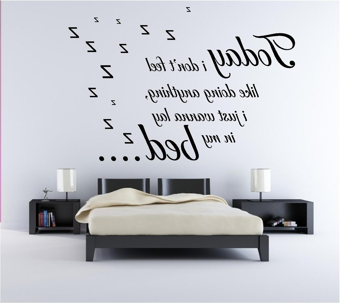 Bedroom Wall Art With Most Recently Released Decoration In Black And White Bedroom Wall Art For House (View 6 of 15)