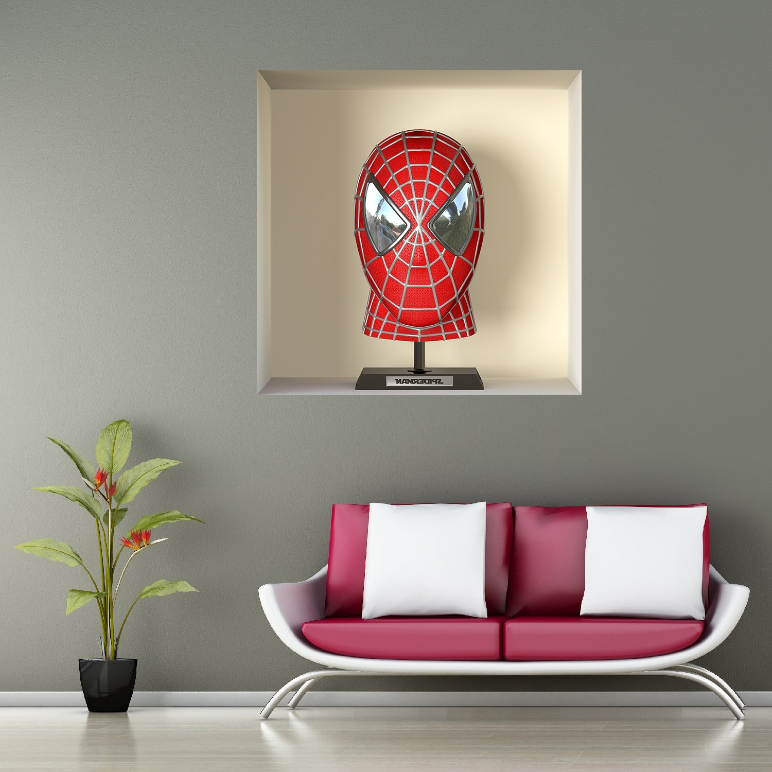 Best And Newest 3D Wall Art Night Light Spiderman Hand In Stickers 3D Illusion Spiderman A466 – Wall Decals 3D Illusion (View 5 of 15)
