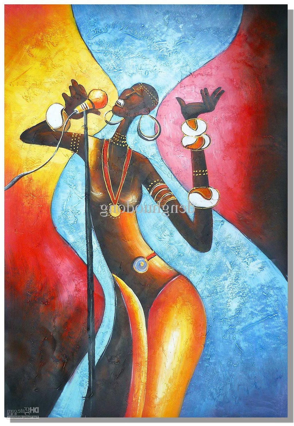 Best And Newest Abstract African Wall Art Inside Online Cheap Hand Painted Wall Art Abstract Oil Paintings, African (View 5 of 15)